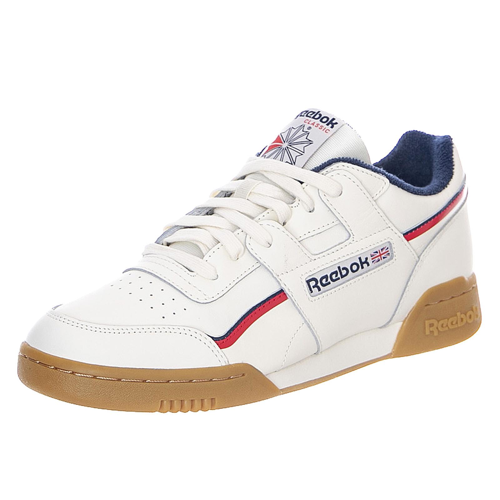 REEBOK WORKOUT PLUS BlancBleu marineRed Baskets Chaussures à lacets