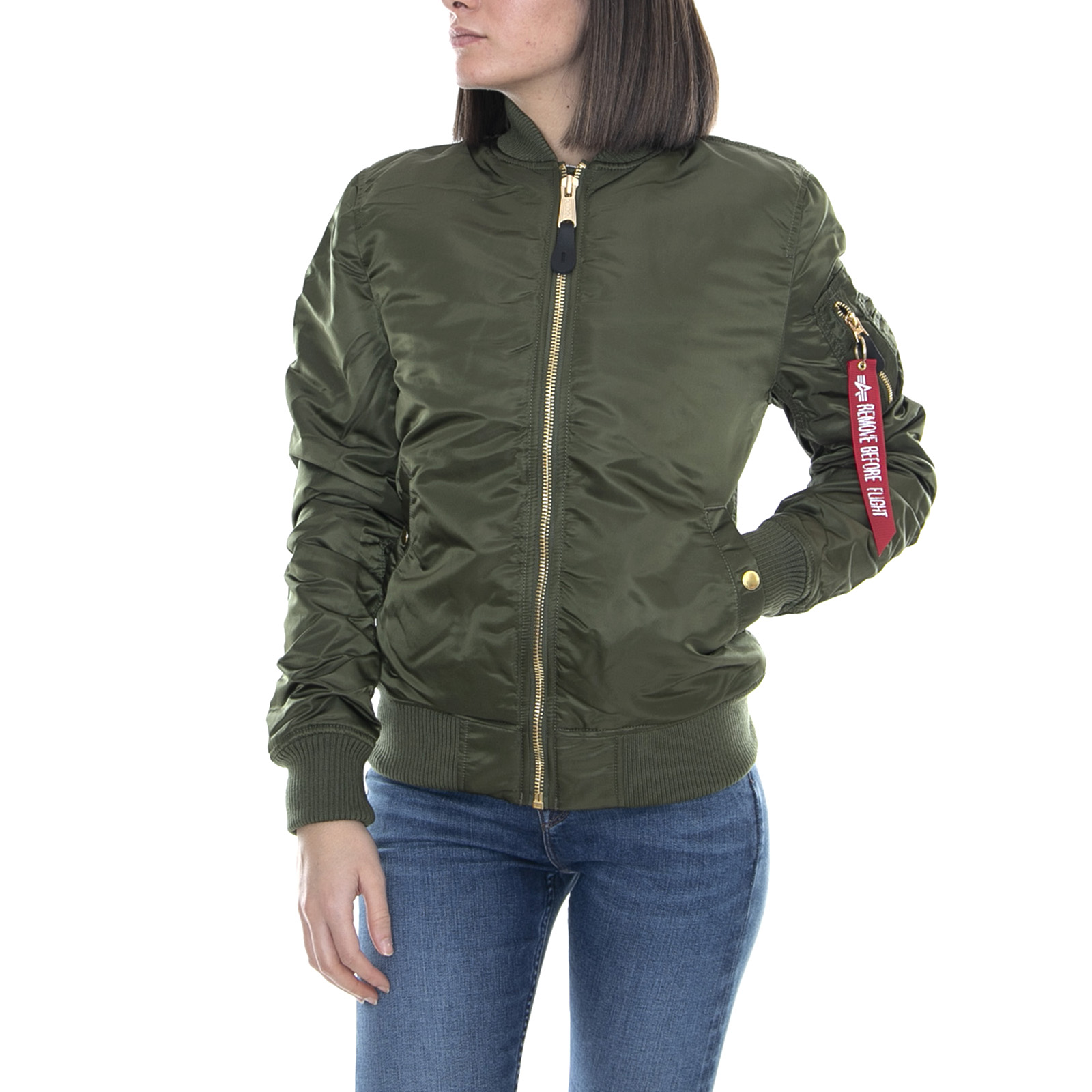 release date: 07cb2 74d24 Details about Alpha Industries Ladies Ma-1 VF Pm Dark Green Bomber Jacket  Winter Green