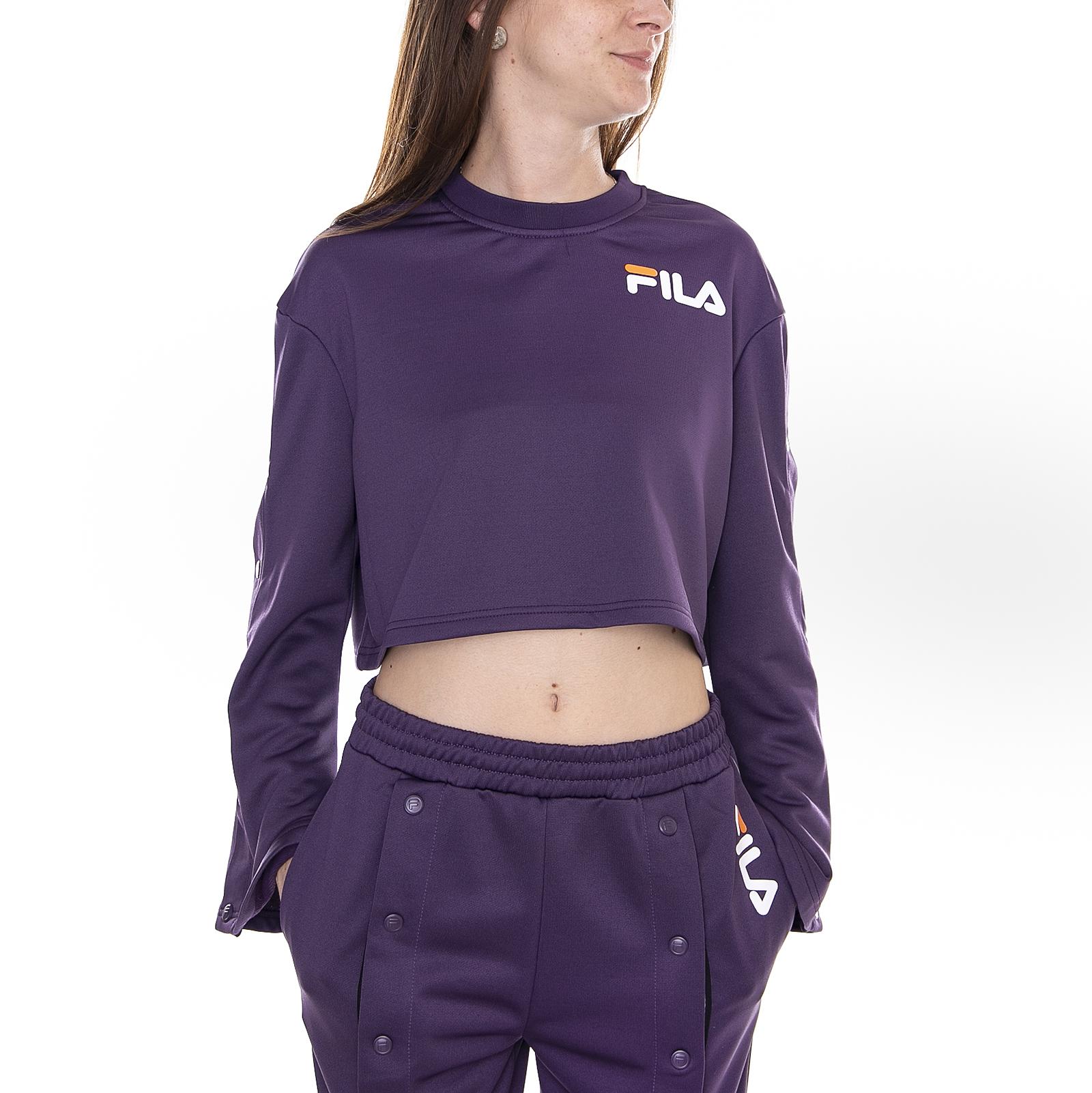 Details Flared Snap Purple Fila Aurora Violet About Sweatshirts YgI7vmbf6y