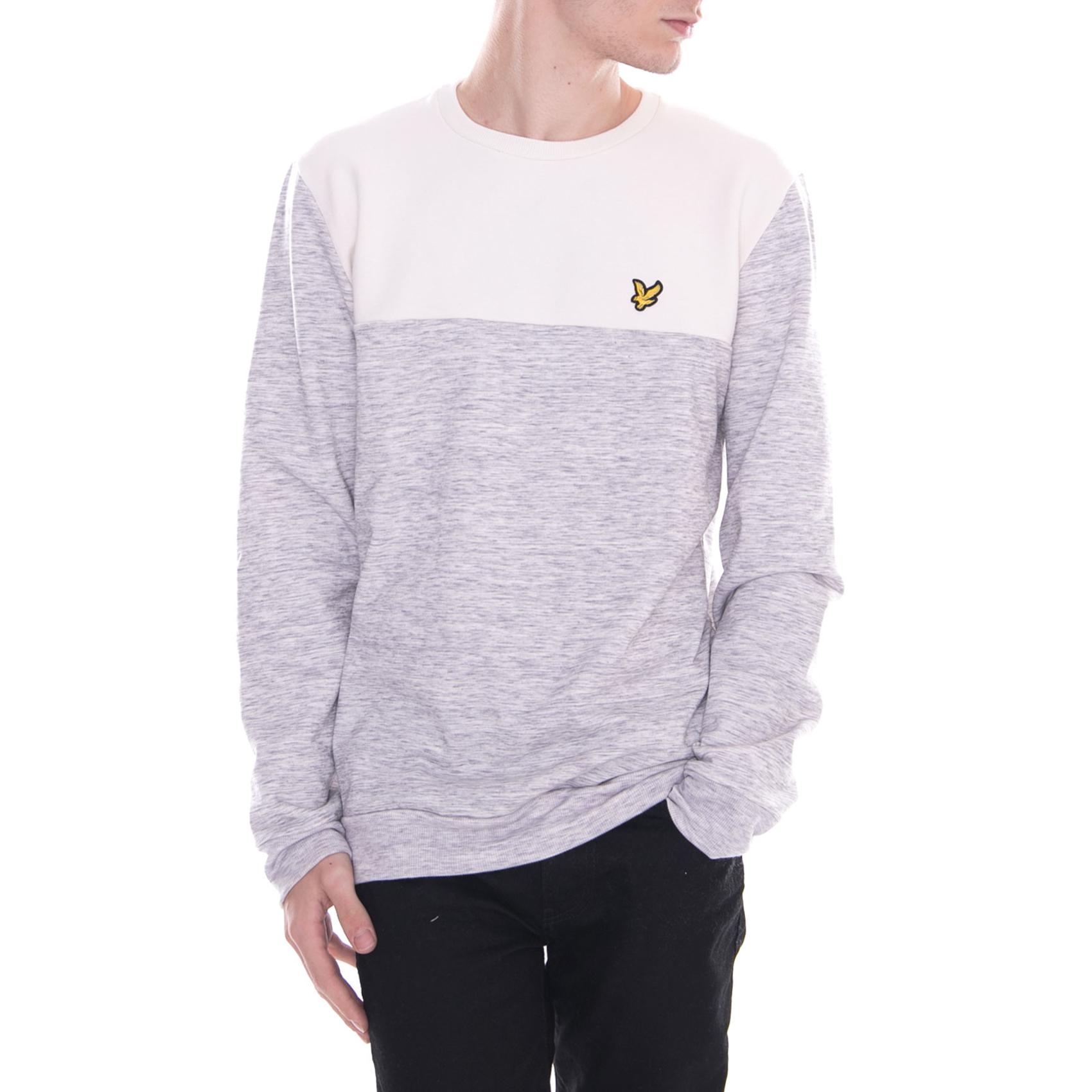 Lyle & Scott Felpe Space Dye Sweatshirt Seashell bianca Bianco