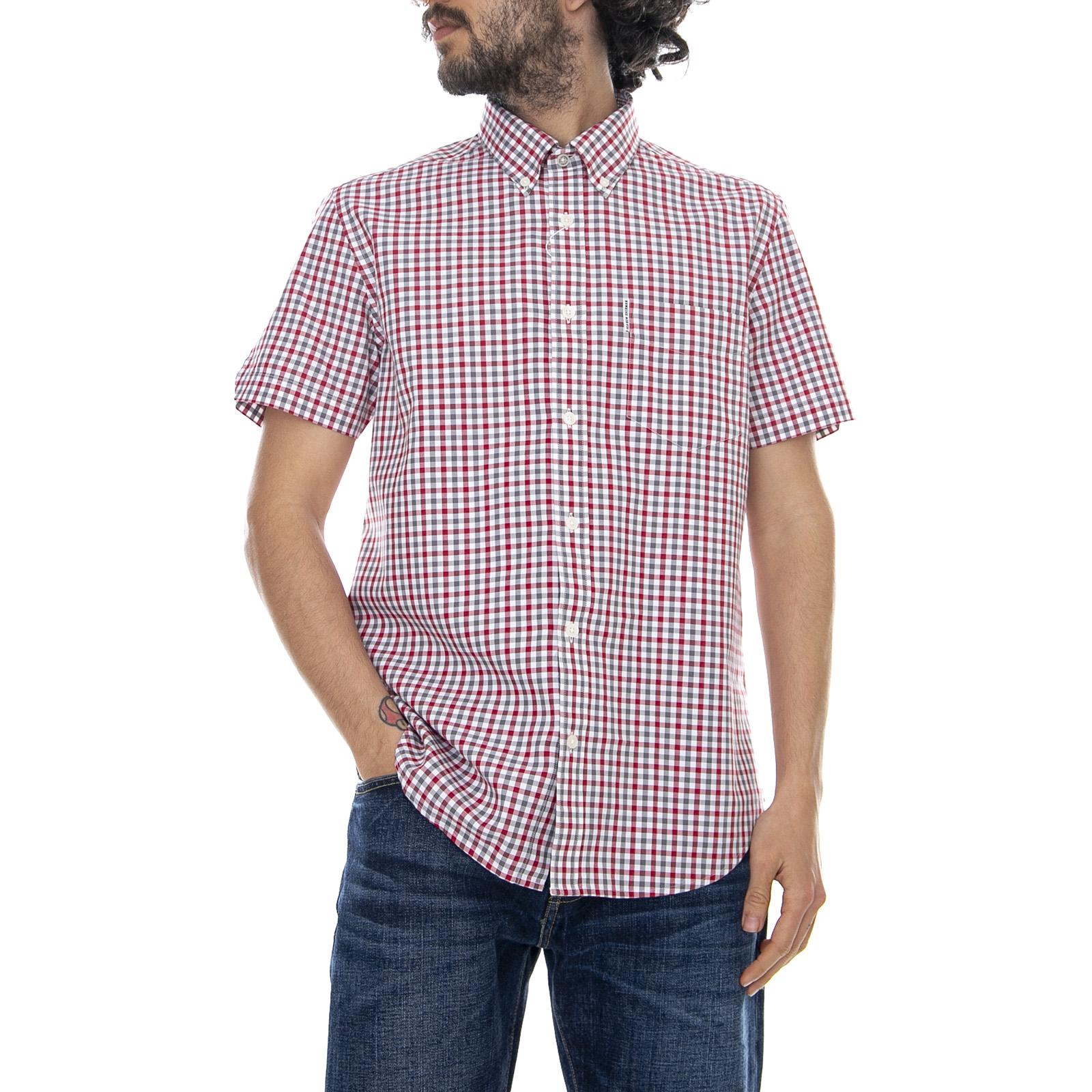 0221221c7193 Ben Sherman House Gingham - Off White/Multicolor - Camicia Maniche Corte  Uomo Multicolor
