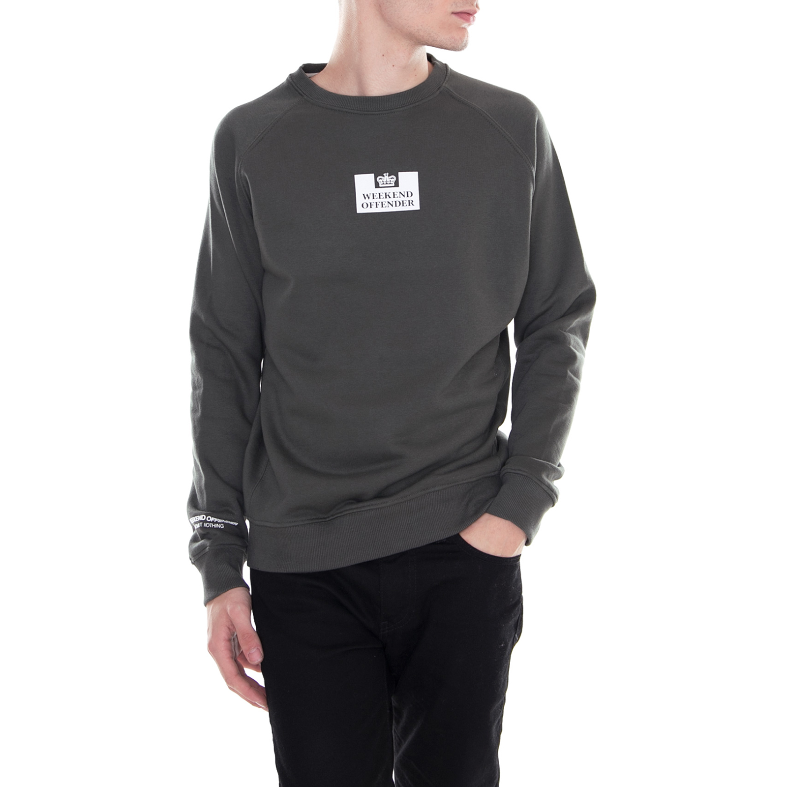 Weekend Saddler Black L Gagner Offender VertPour Sweatshirts lF1TcJK