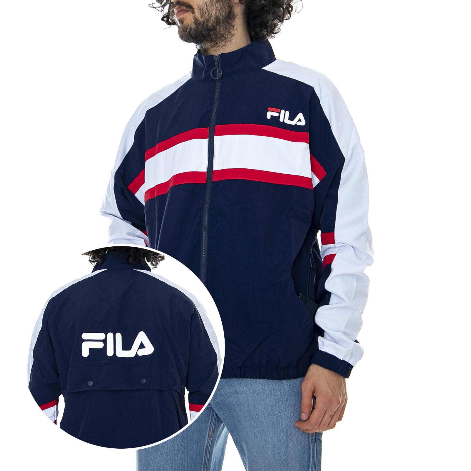 Details about Fila Men Carter Pop Peacoat Blue Jacket Light Man Blue