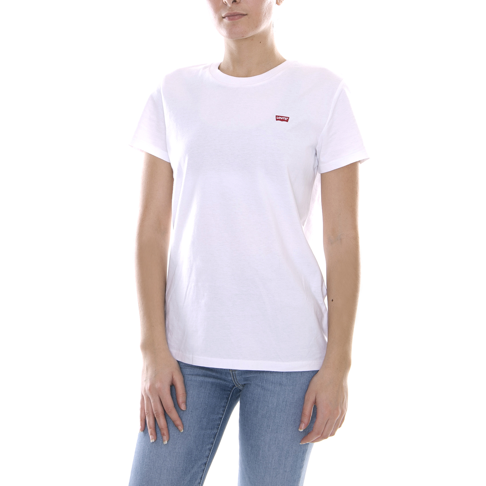 a672208f Levis t-shirt perfect tee white white | eBay