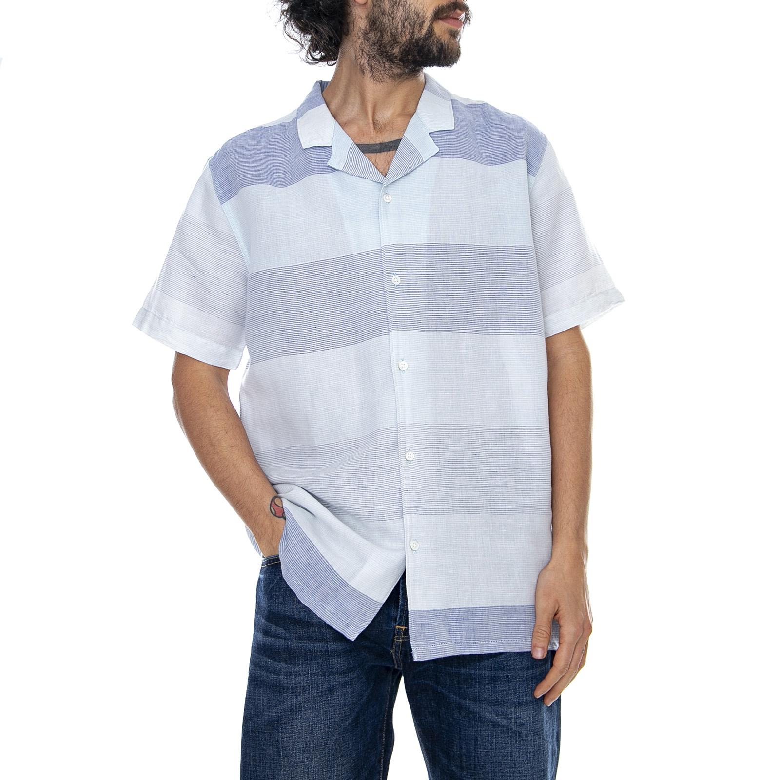 Classico Levis Camicia Boyfit Misto Lino Levi's Blu Per