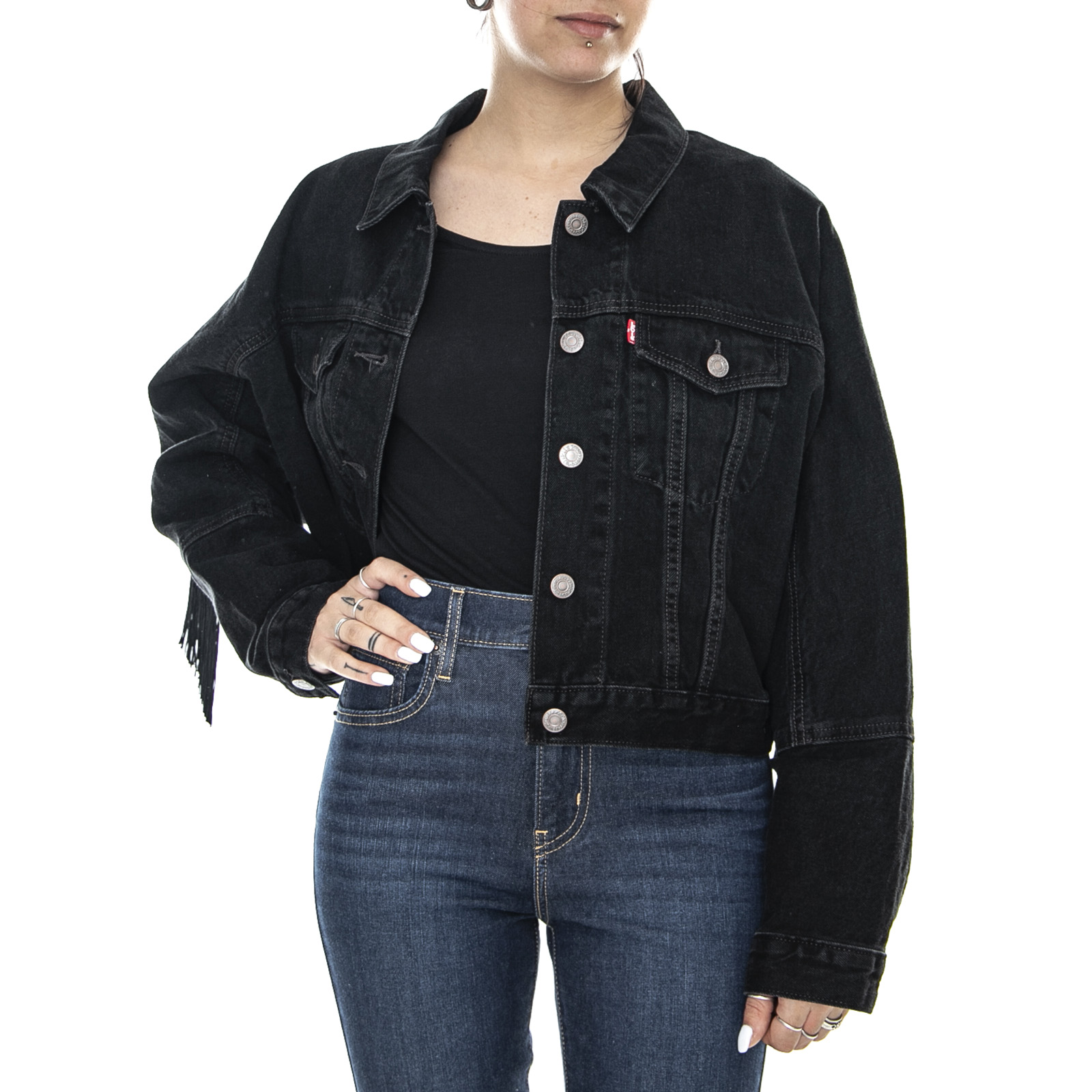 Veste en jean levis femme noir