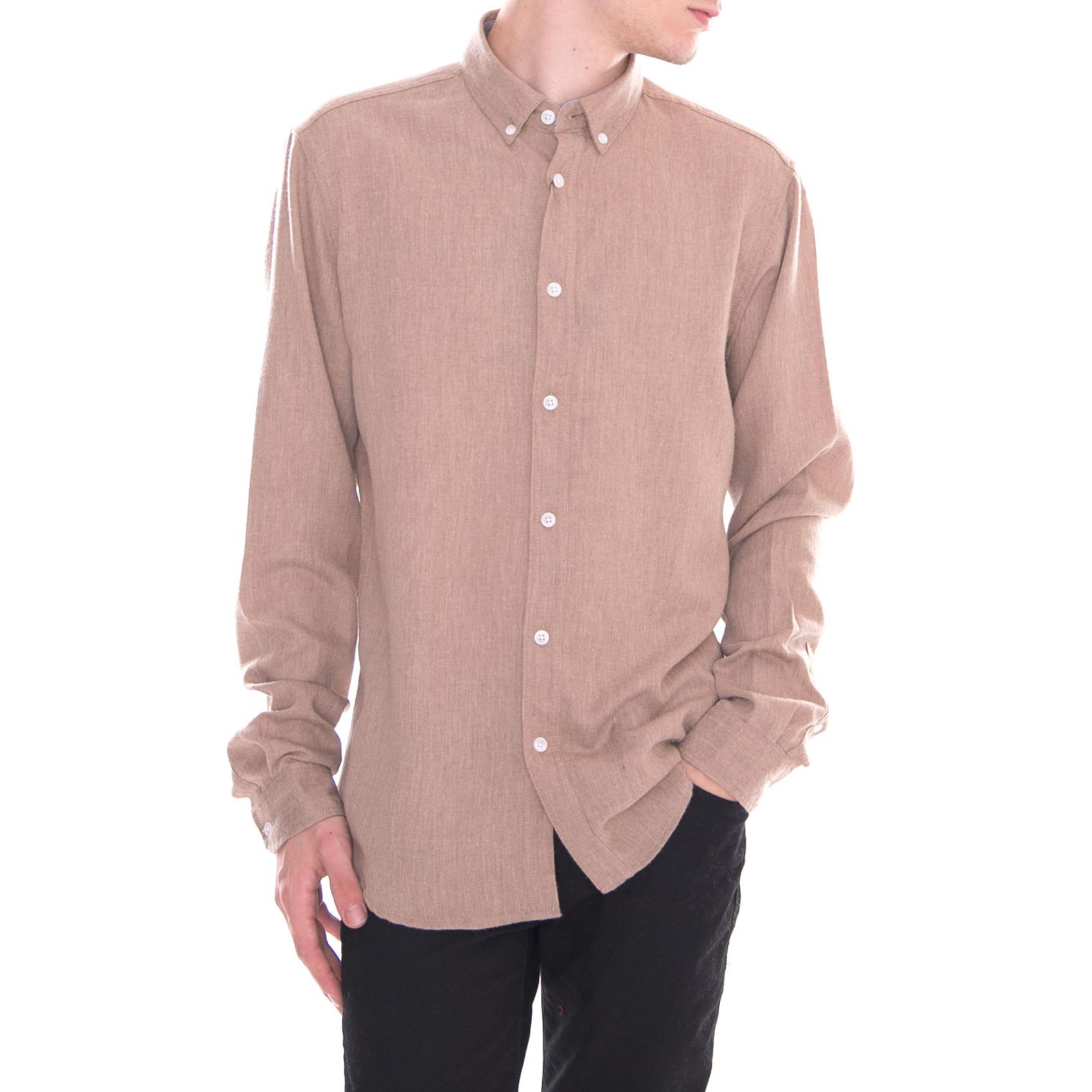 Solid Shirts Juan Ginger Sna Beige Beige