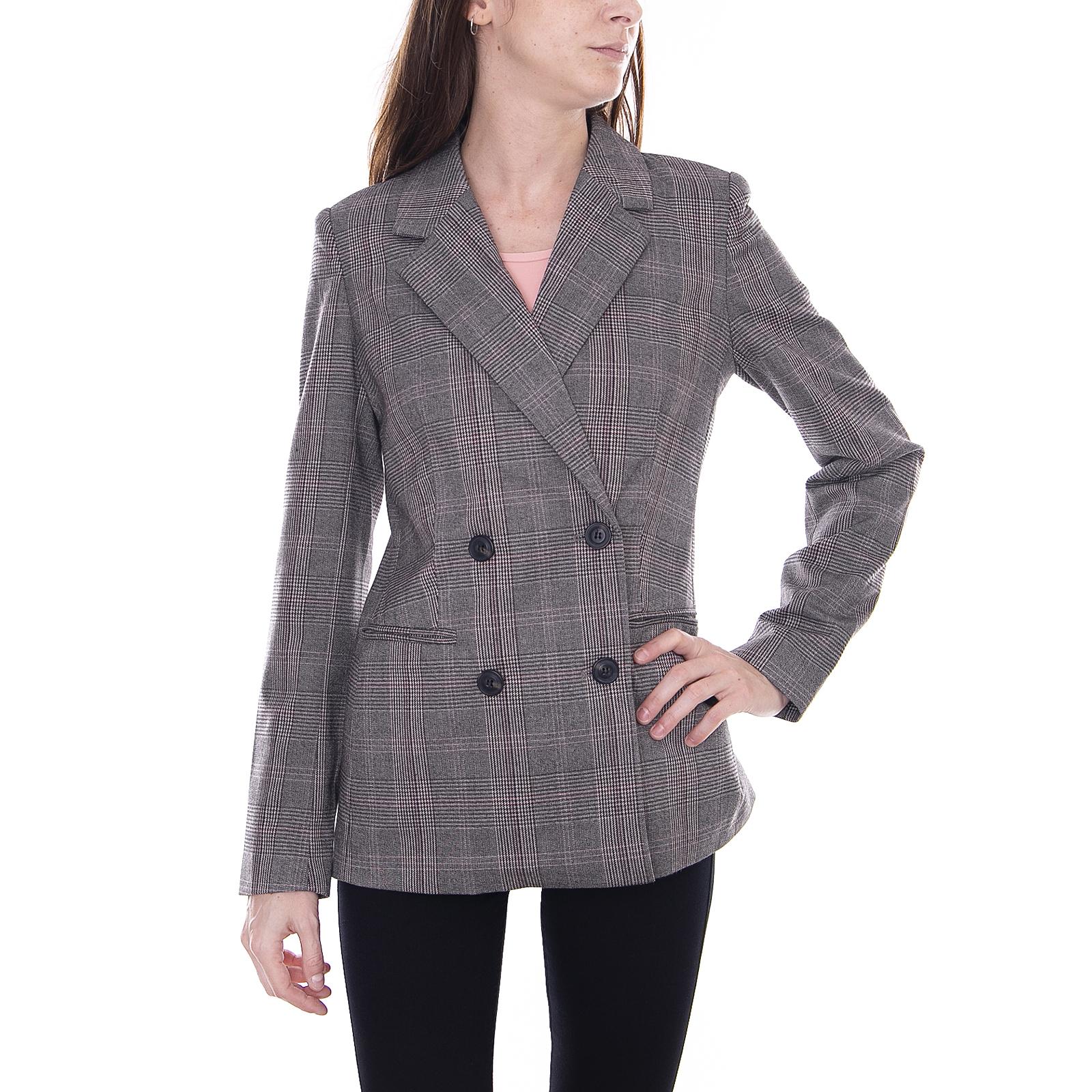 Vero Moda Giacche Vilian L S Blazer D2-6 Ki-Dark Grey Melange grey