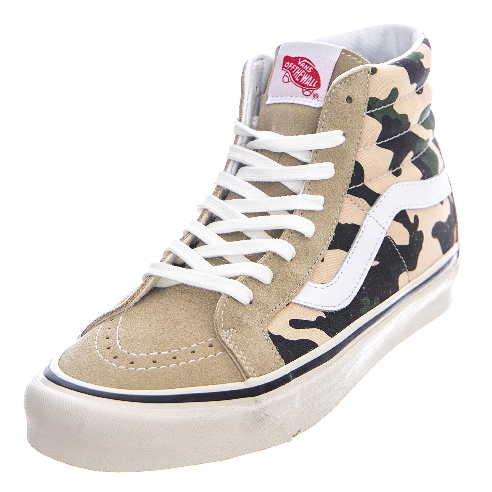 Details about Vans Anaheim Factory sk8 hi 38 Dx Og Khaki Og Camo Shoes High Man Camo