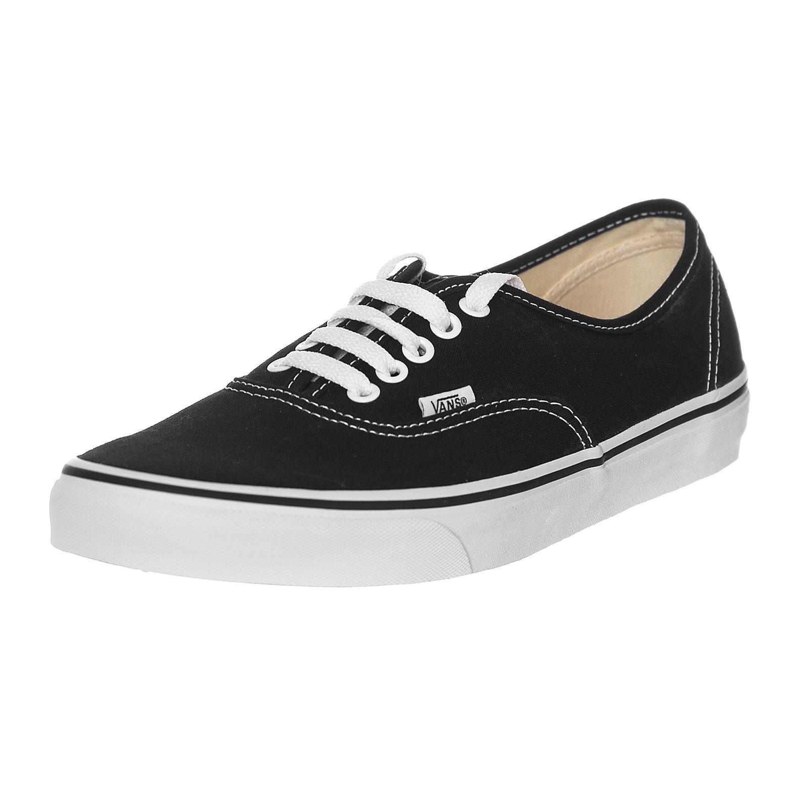 Zapatos promocionales para hombres y mujeres Vans Zapatillas Auténtico Black / Blanco Negro