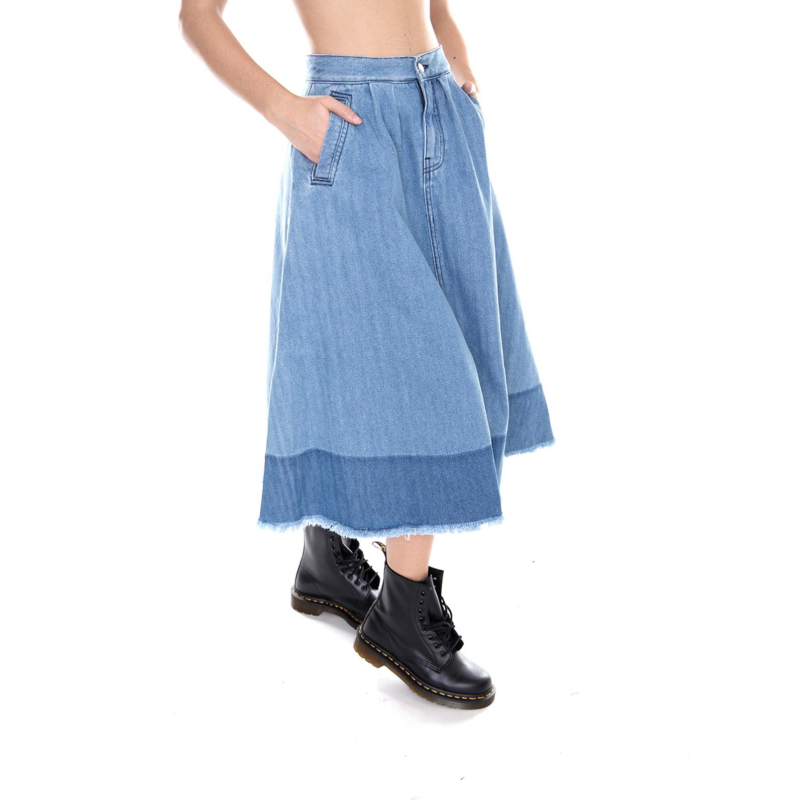 Dr. Denim Gonne orie Denim jupe Mid bleu Wash Jeans   Denim