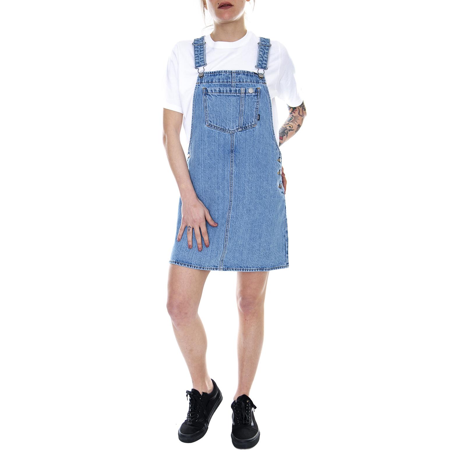 e7d66fb2d772 Dr. Denim Eir Dungaree Dress Summer Camp - Blue - Abito Salopette Donn Blue