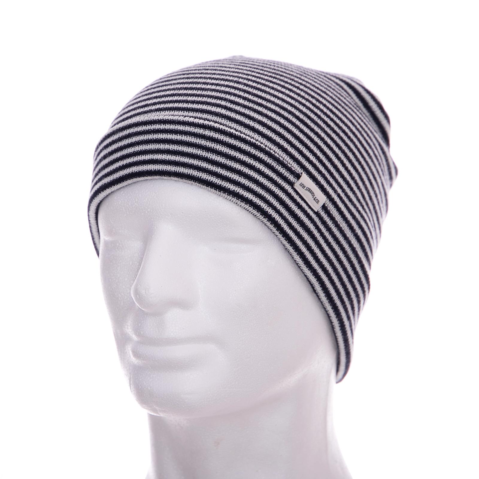 materiali di alta qualità pregevole fattura qualità affidabile Dettagli su Levis Cappelli Beanie Black/White Nero