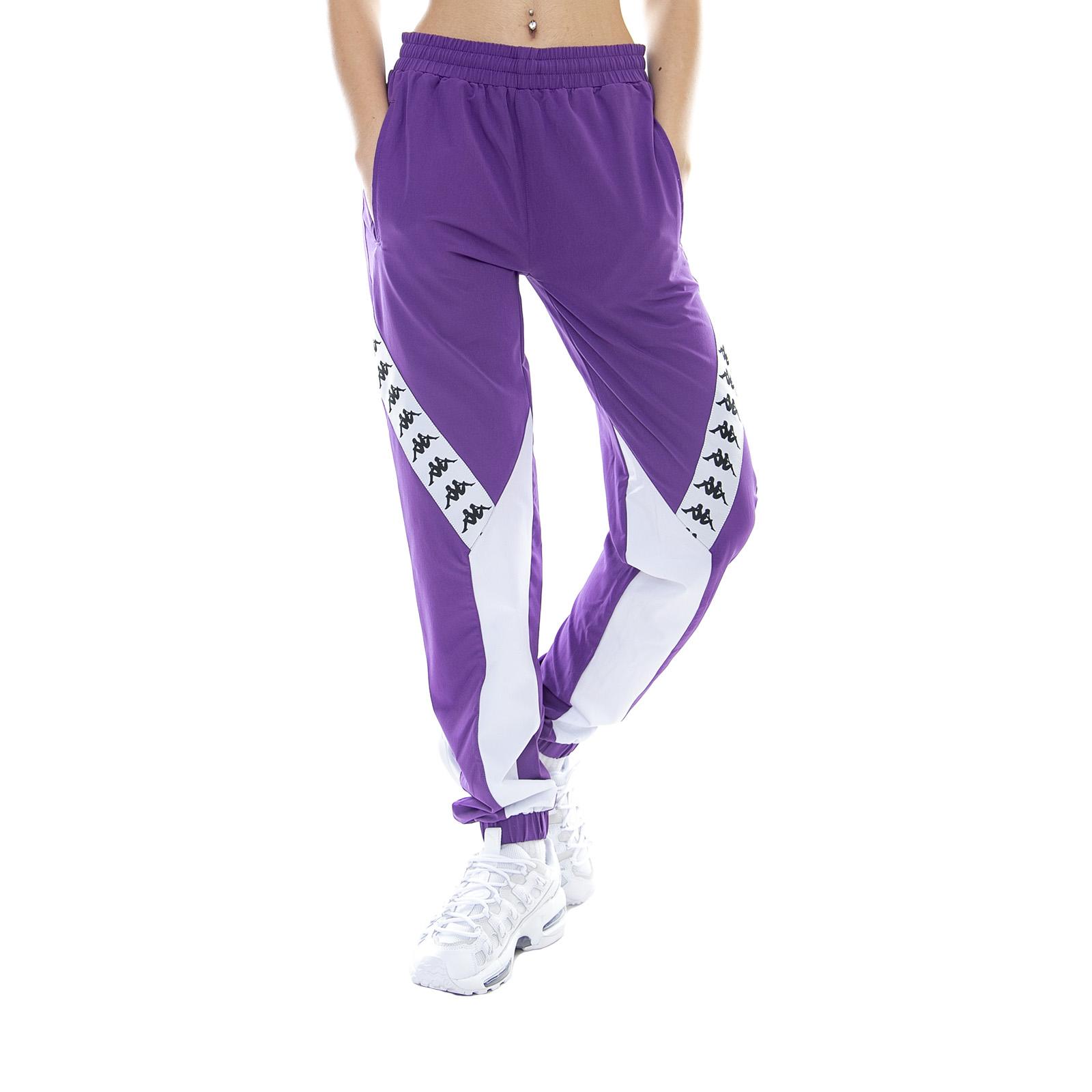 c916cd8d374b Kappa 222 Banda Bawon Violet Pansy/White - Pantaloni Sportivi Da Donna Viola