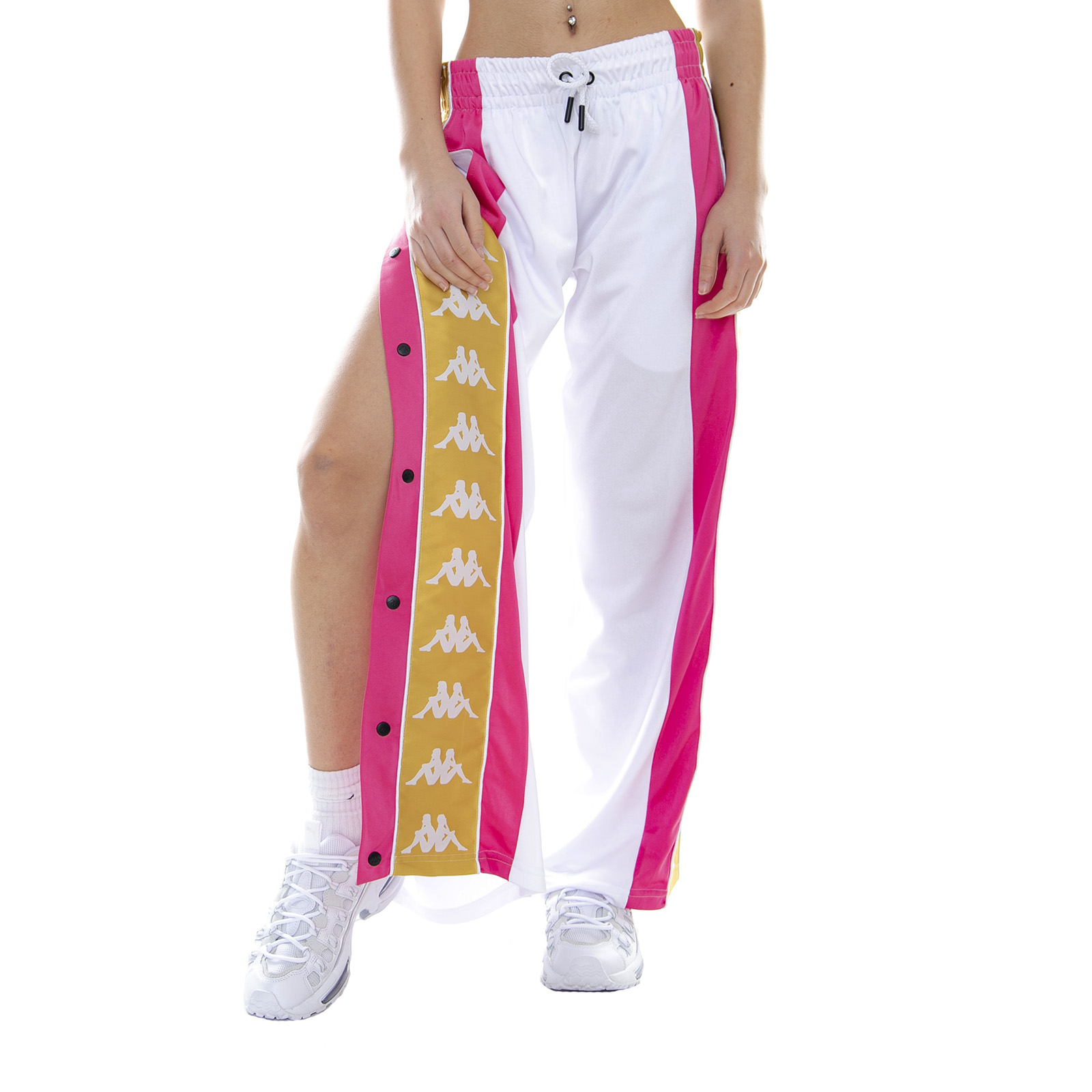 c0046ff2484c Kappa 222 Banda Baish White/Fuchsia/Yellow - Pantaloni Sportivi Da Donna  Bianco 4 4 di 4 Vedi Altro