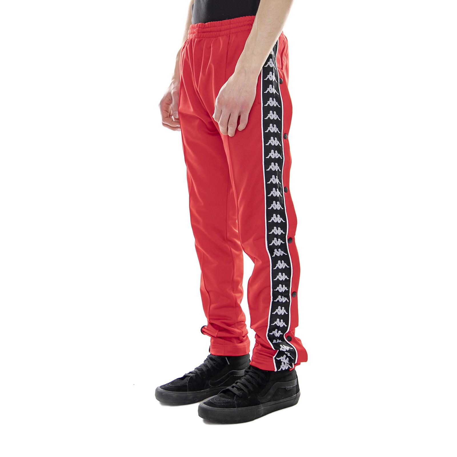 KAPPA 222 BANDA Astoria Snaps Slim RedBlackWhite Pantaloni Sportivi Uomo Rosso