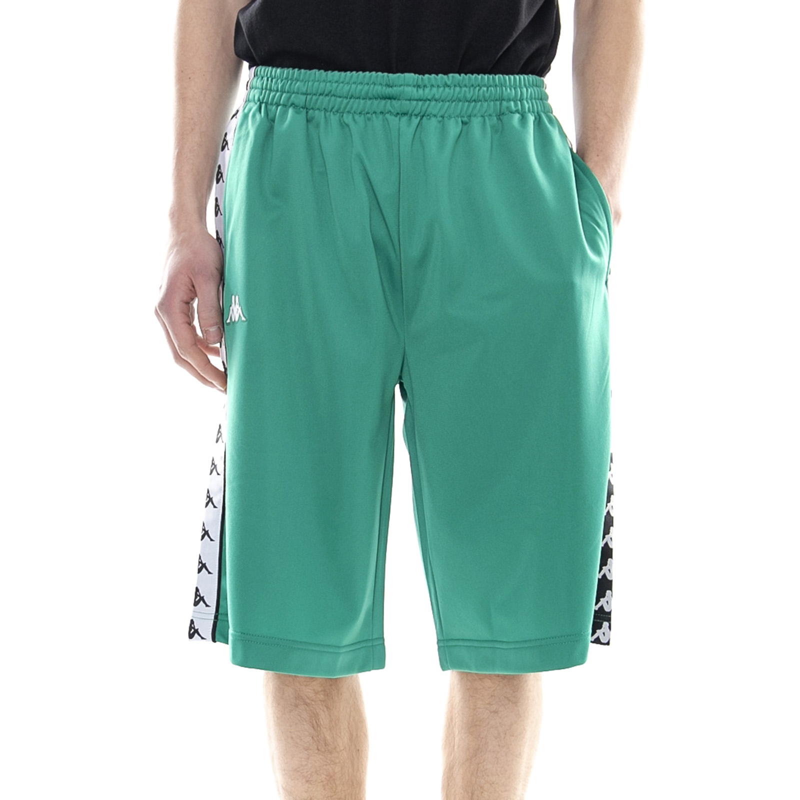 205234ae Details about Kappa 222 Band Treadwell Green/Black/White - Shorts/Bermuda  Mens Green