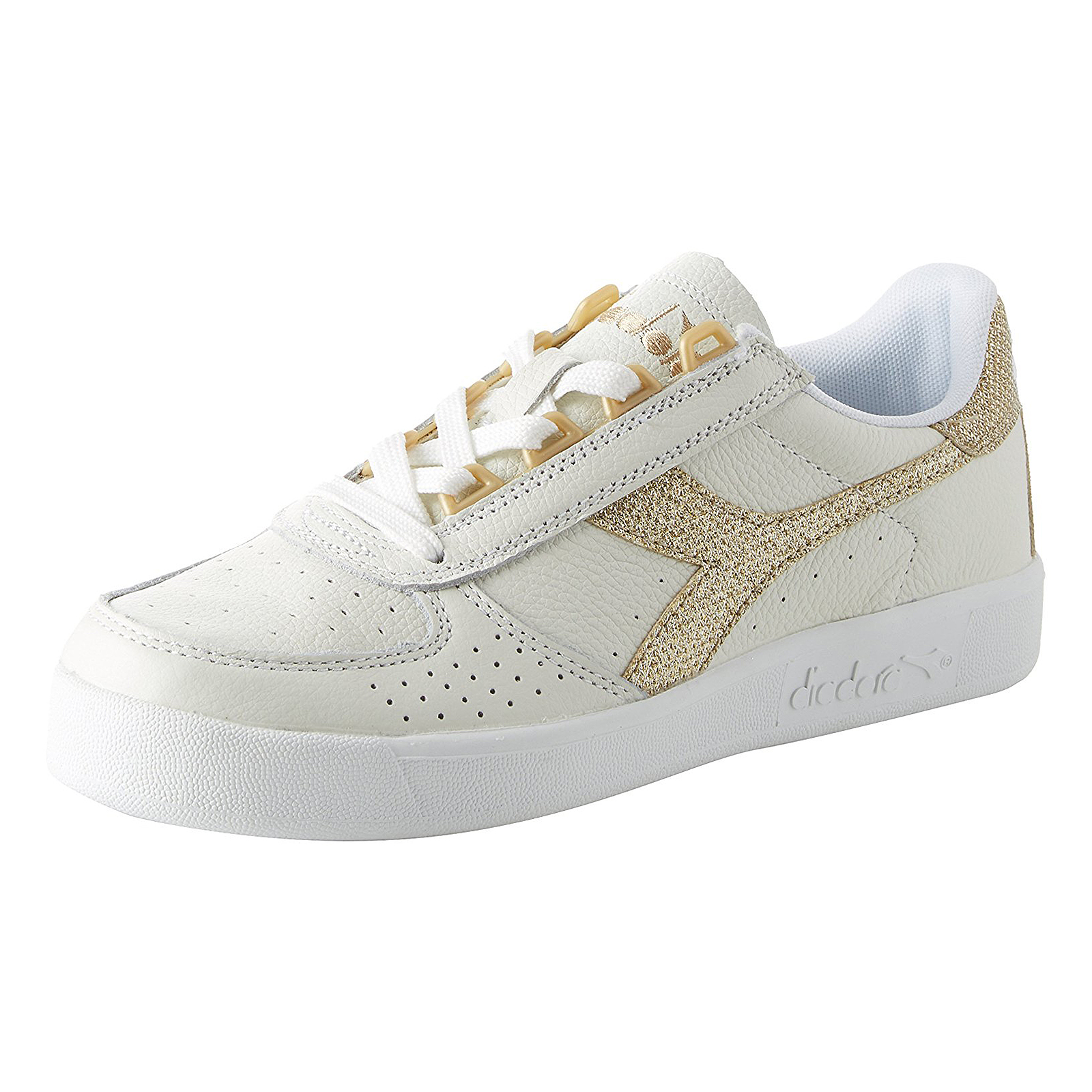 3d0cc83a Details about Diadora Sneakers B.Elite L Wn White/Gold White