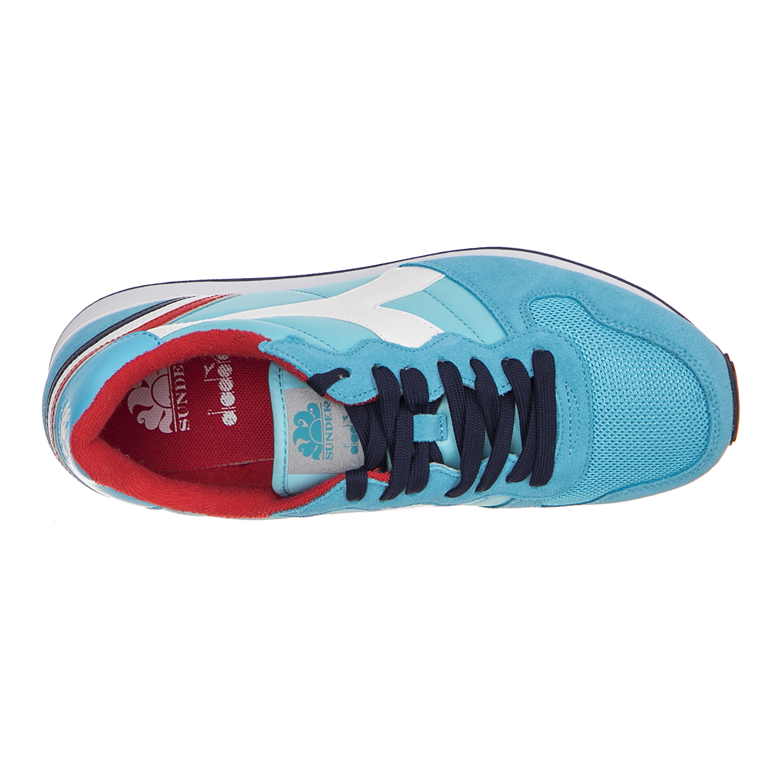 Diadora Turnschuhe Bademodenmarke Camaro Bademodenmarke Turnschuhe Atoll Blau Blau 93e124