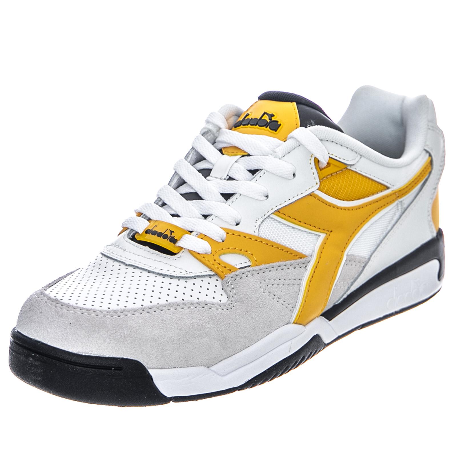 Beta About Rebound Blackwhitebanana Low Diadora Ace Sneakers Details Black Man ARj534Lq