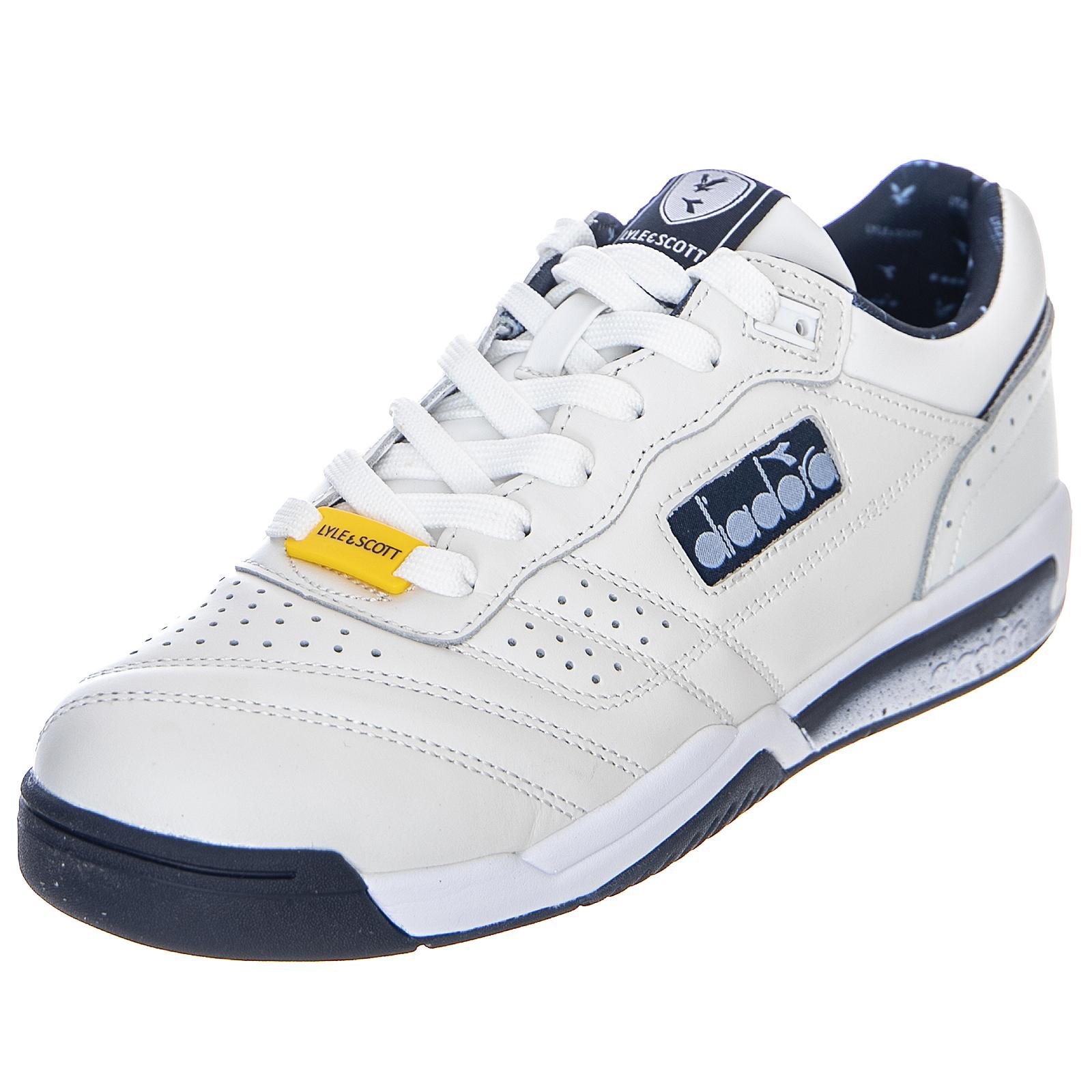 DIADORA action lyle & scott white scarpe basse uomo bianche