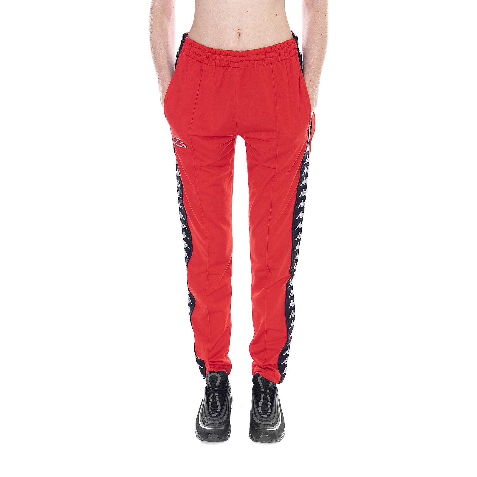 économiser afd62 3ec76 Détails sur Kappa Pantalon 222 Bande Wastoria Snaps Slim rouge-noir