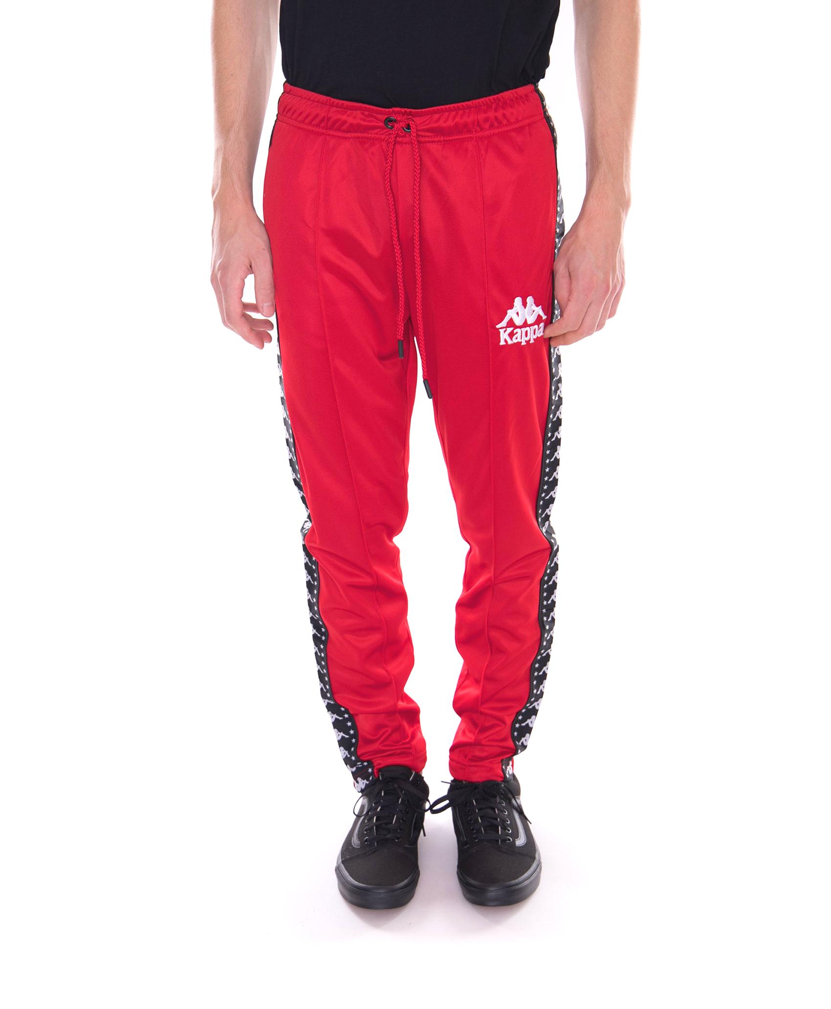 Authentic Anac Pantaloni Kappa black white Rosso Red a5nwx