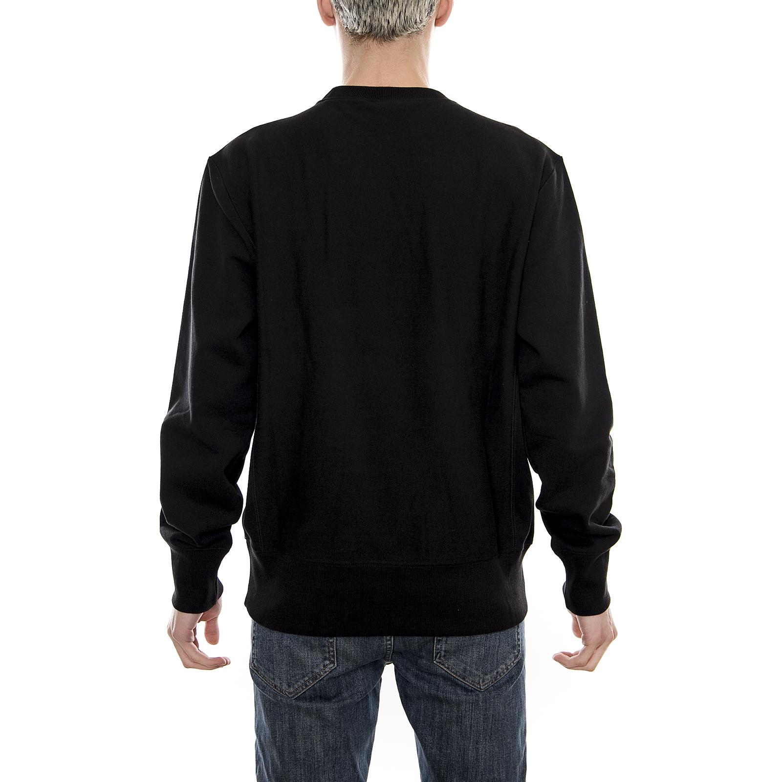 Champion-Felpe-Crewneck-Sweatshirt-Logo-Black-Nero