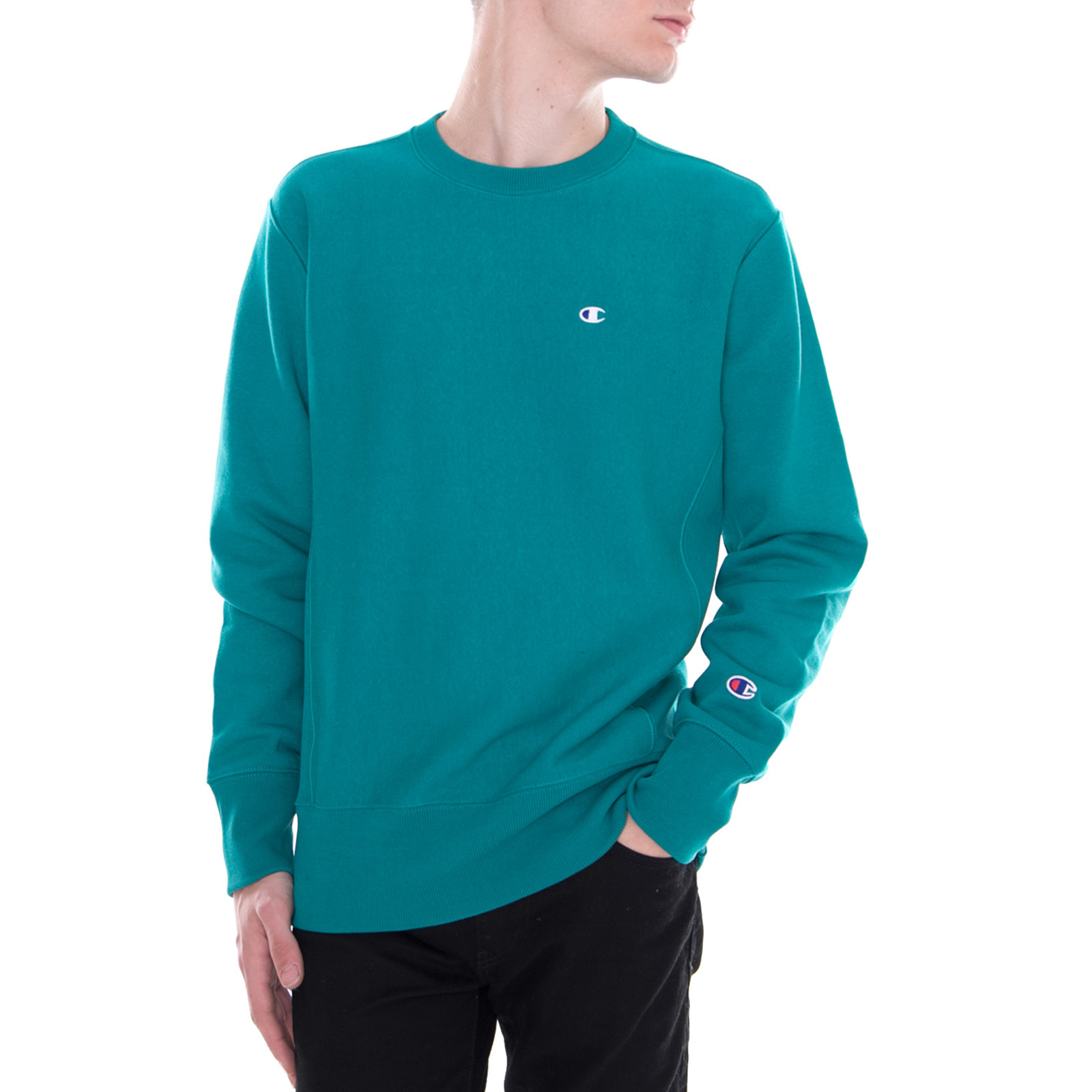 Détails sur Champion Sweatshirts Crewneck Sweat,Shirt Vert Vert