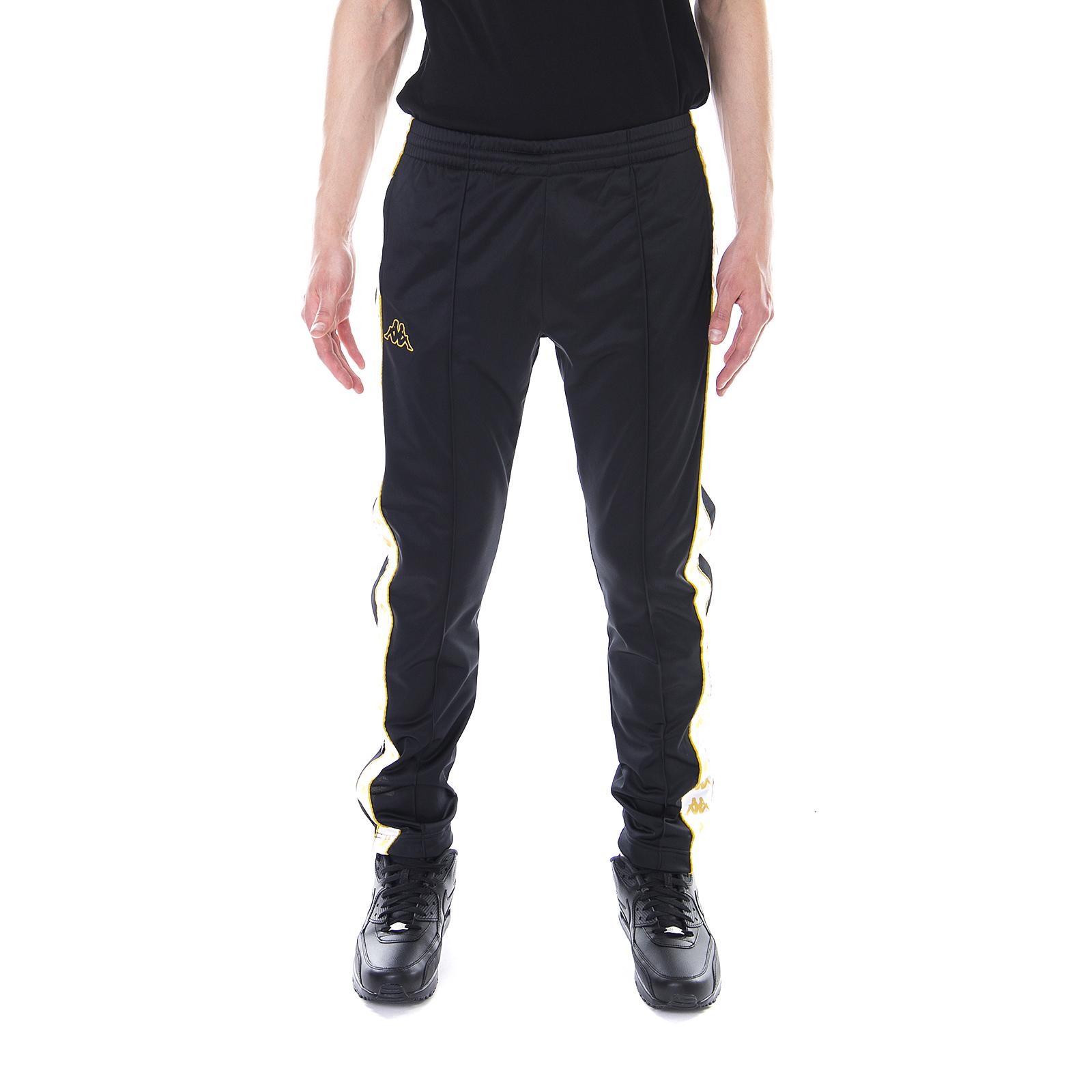 Kappa-Pantaloni-222-Banda-Astoria-Snaps-Slim-Black-White-Gold-Nero miniatura 2