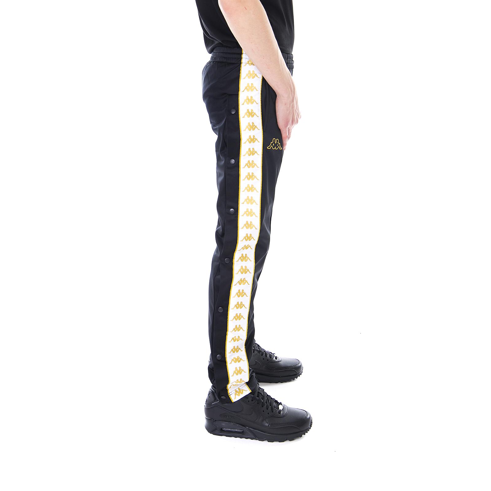 Kappa-Pantaloni-222-Banda-Astoria-Snaps-Slim-Black-White-Gold-Nero miniatura 3