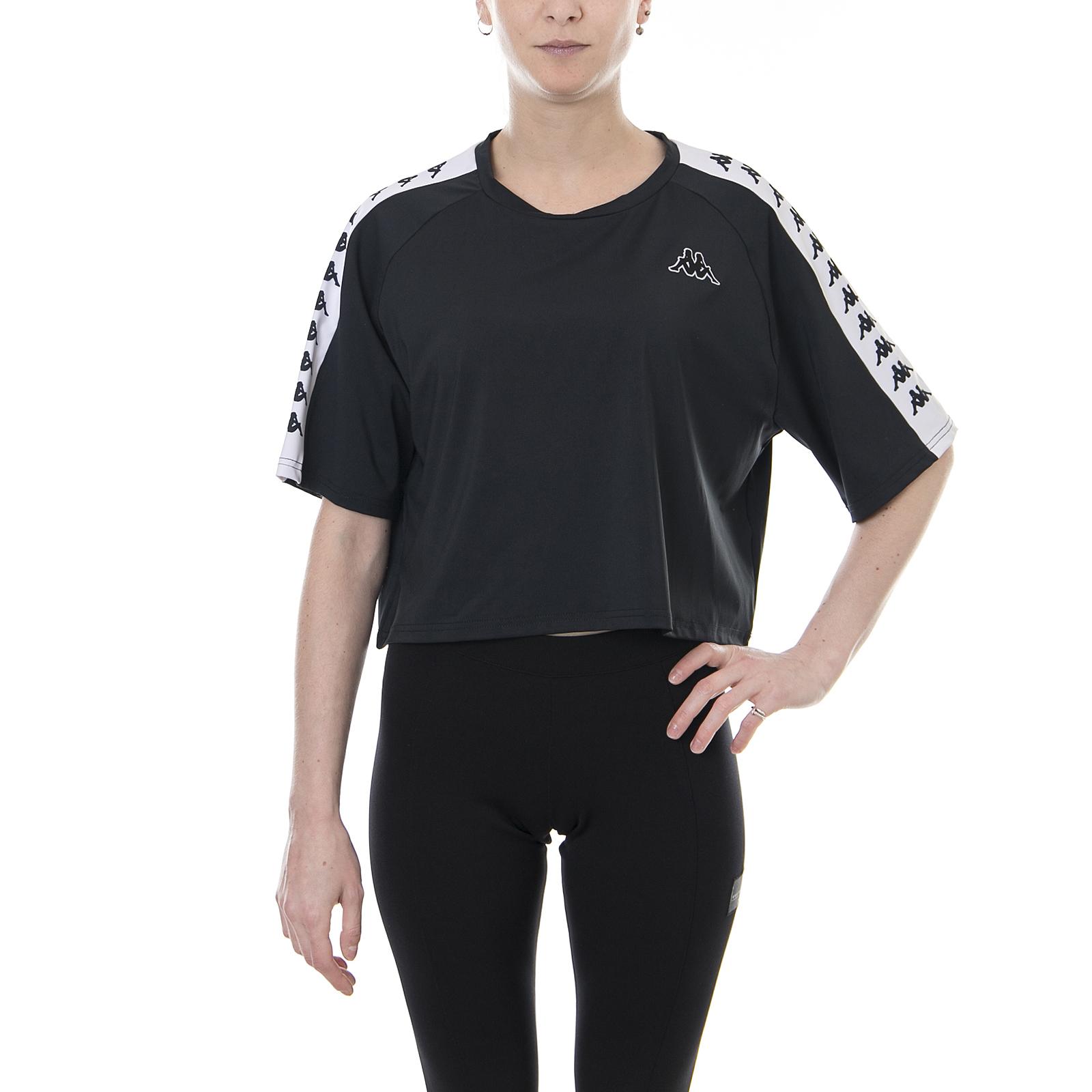 Kappa T-Shirt 222 Banda Atum Black-White Nero