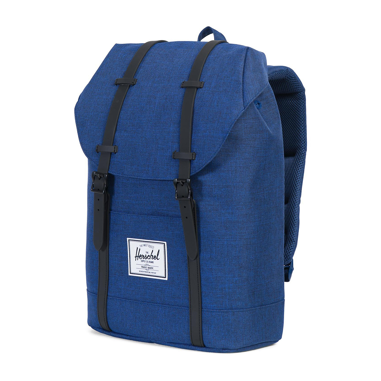 Herschel-Zaini-Backpacks-Retreat-Classics-Backpack-Eclipse-Crosshatch-Black miniatura 3