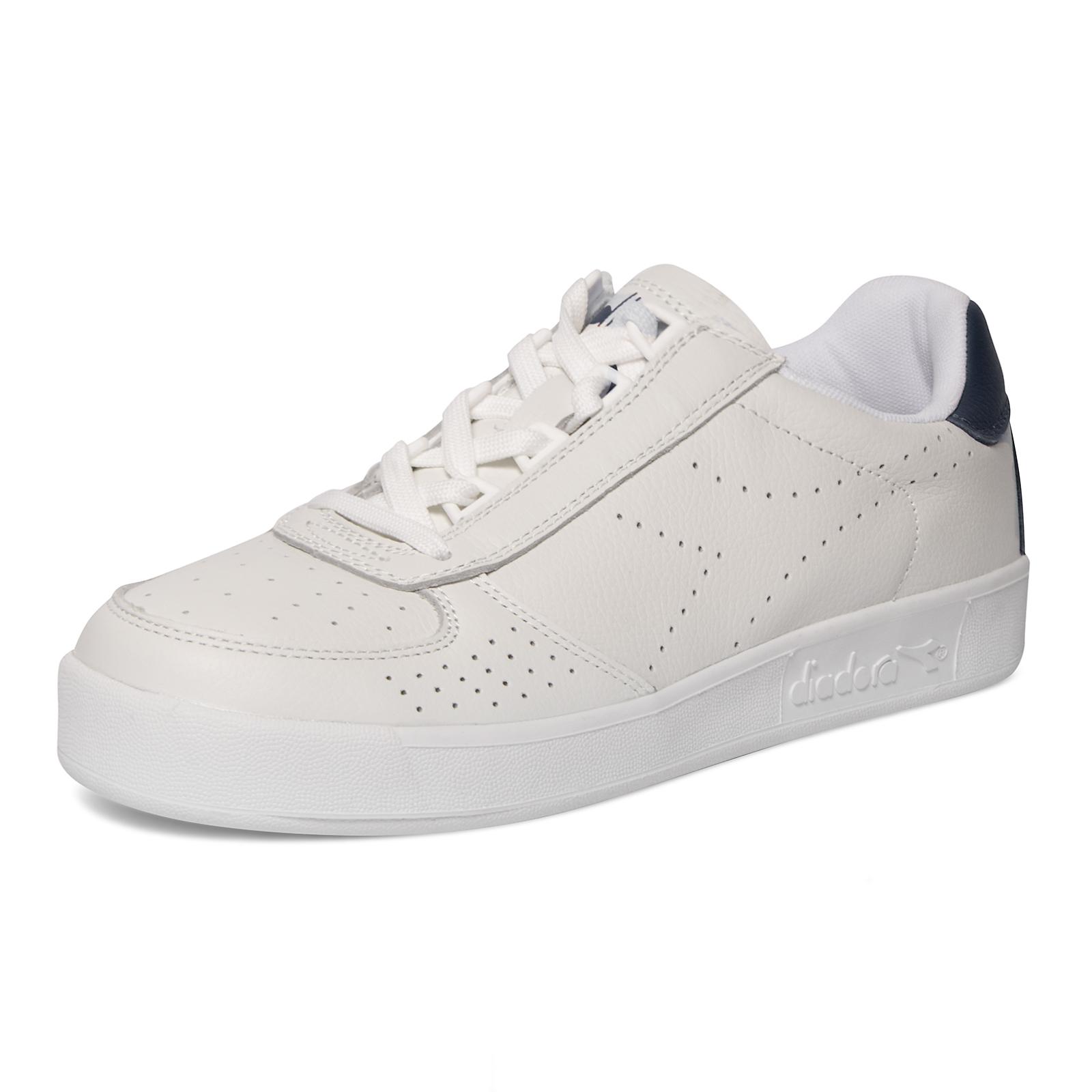 DIADORA scarpe B.ELITE PREMIUM L WHITE BLUE CASPIAN SEA sneakers  ac785188eef