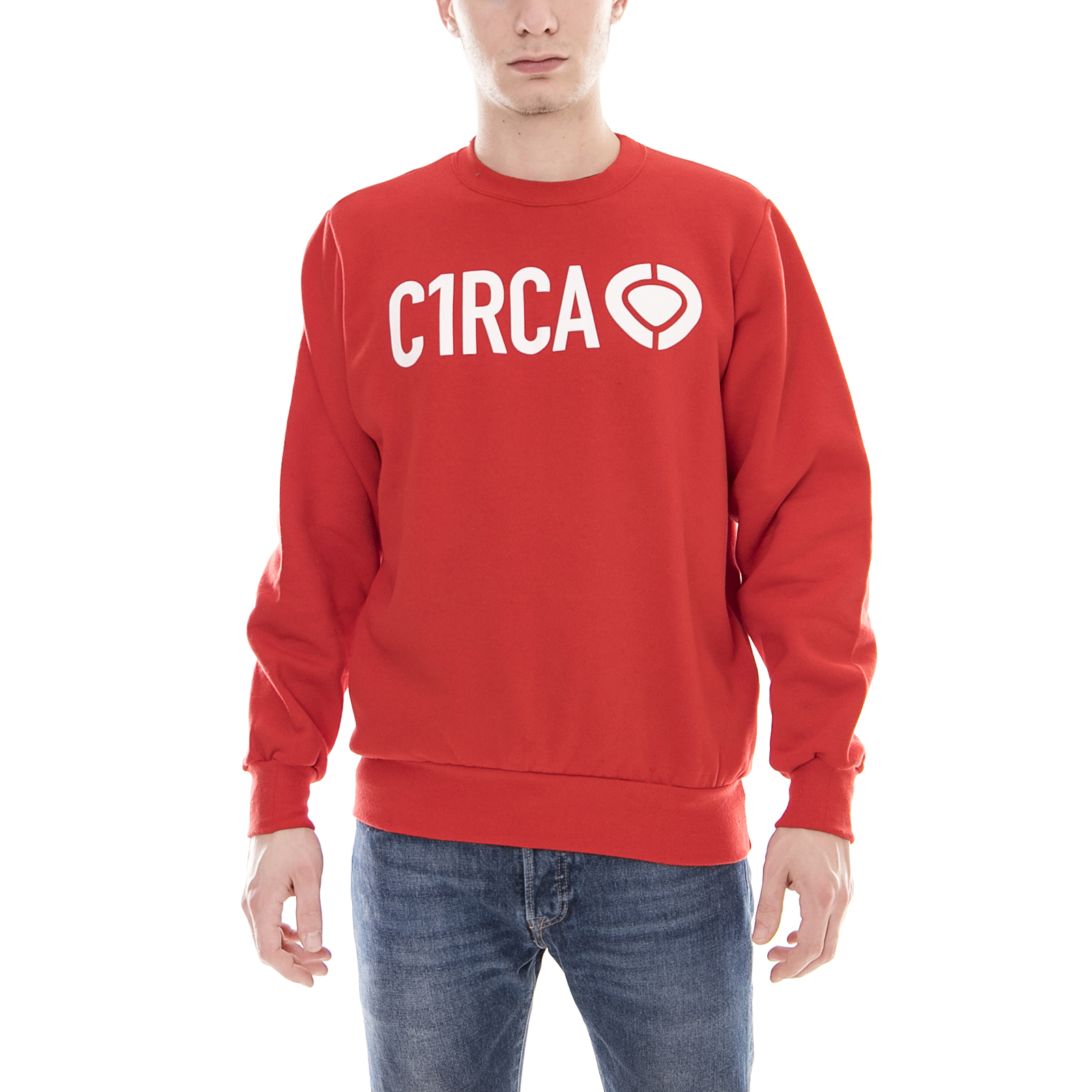 C1rca Sweatshirt Din Symbol Crew Rot