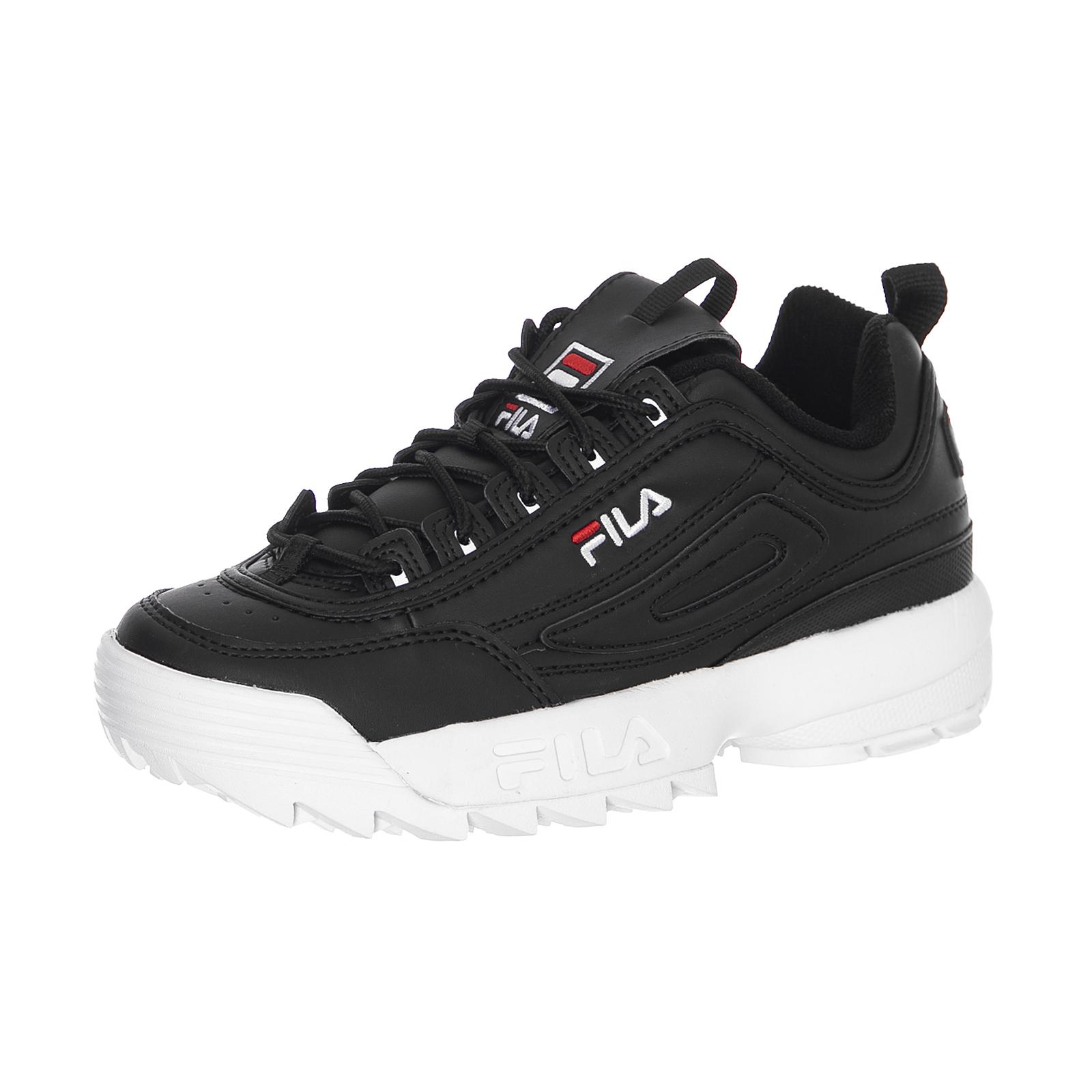 Dettagli su Fila Sneakers Disruptor Low Wmn Black Nero