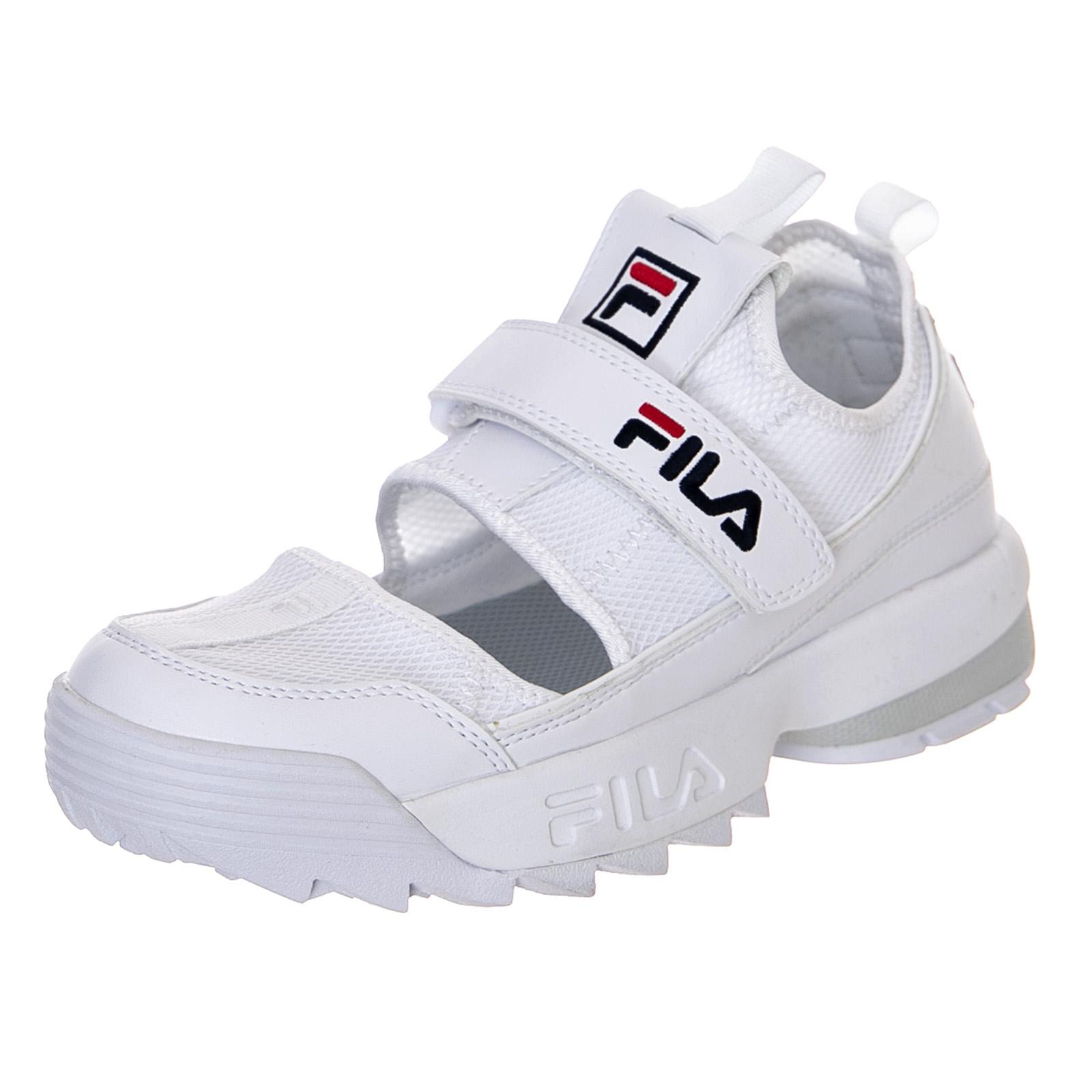 fila disruptor sandal white