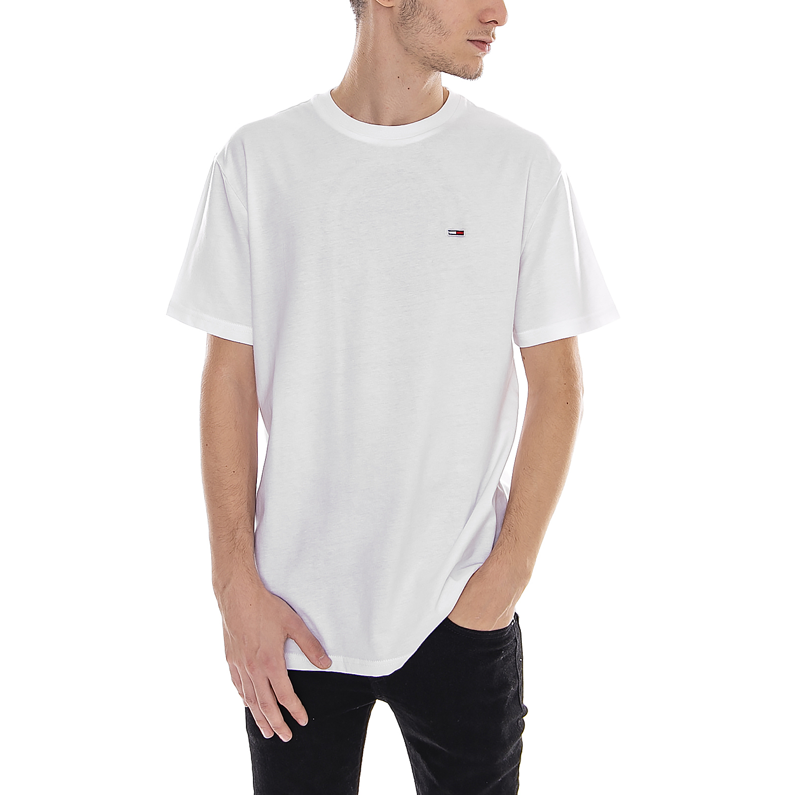 6d01ed74 Tommy Hilfiger T-Shirt Tjm Tommy Classics Tee Classic White White   eBay