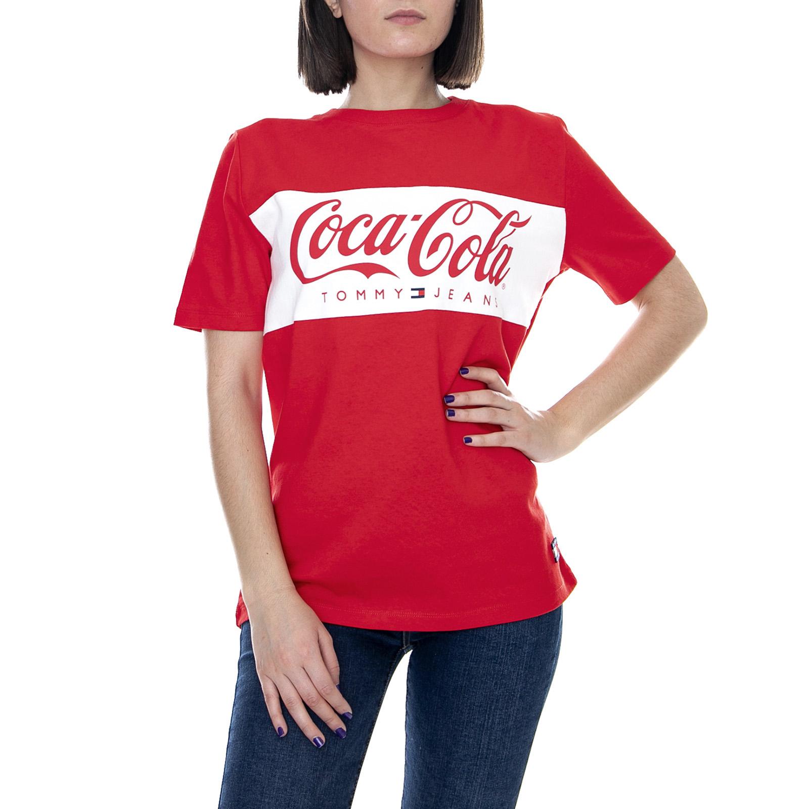 f2ad096c2235b Tommy Hilfiger Tjw Tommy X Coca Cola - 696 T-Shirt - Red - Damen T ...