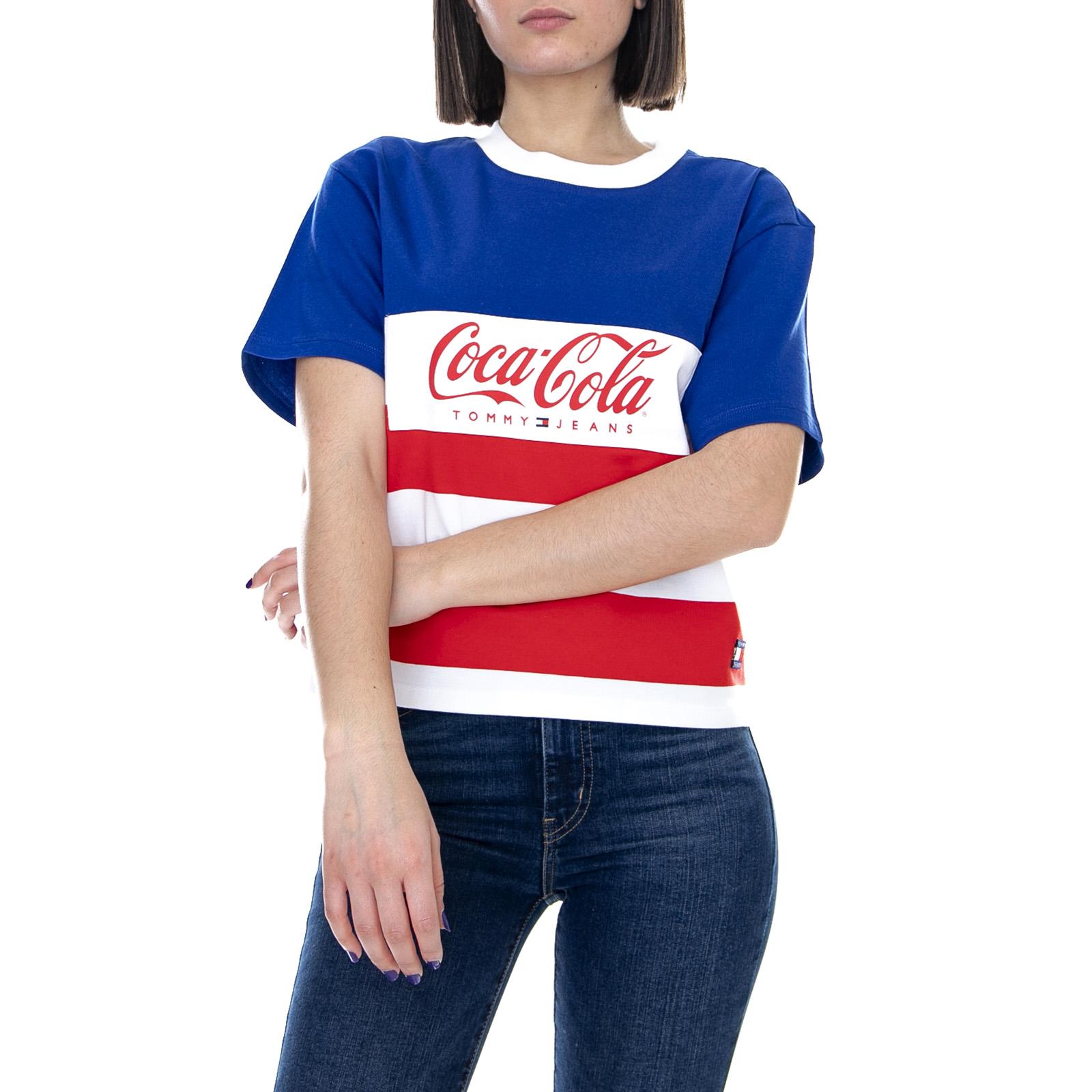Tommy Jeans X Coca Cola Sudadera de hombre azul con cuello