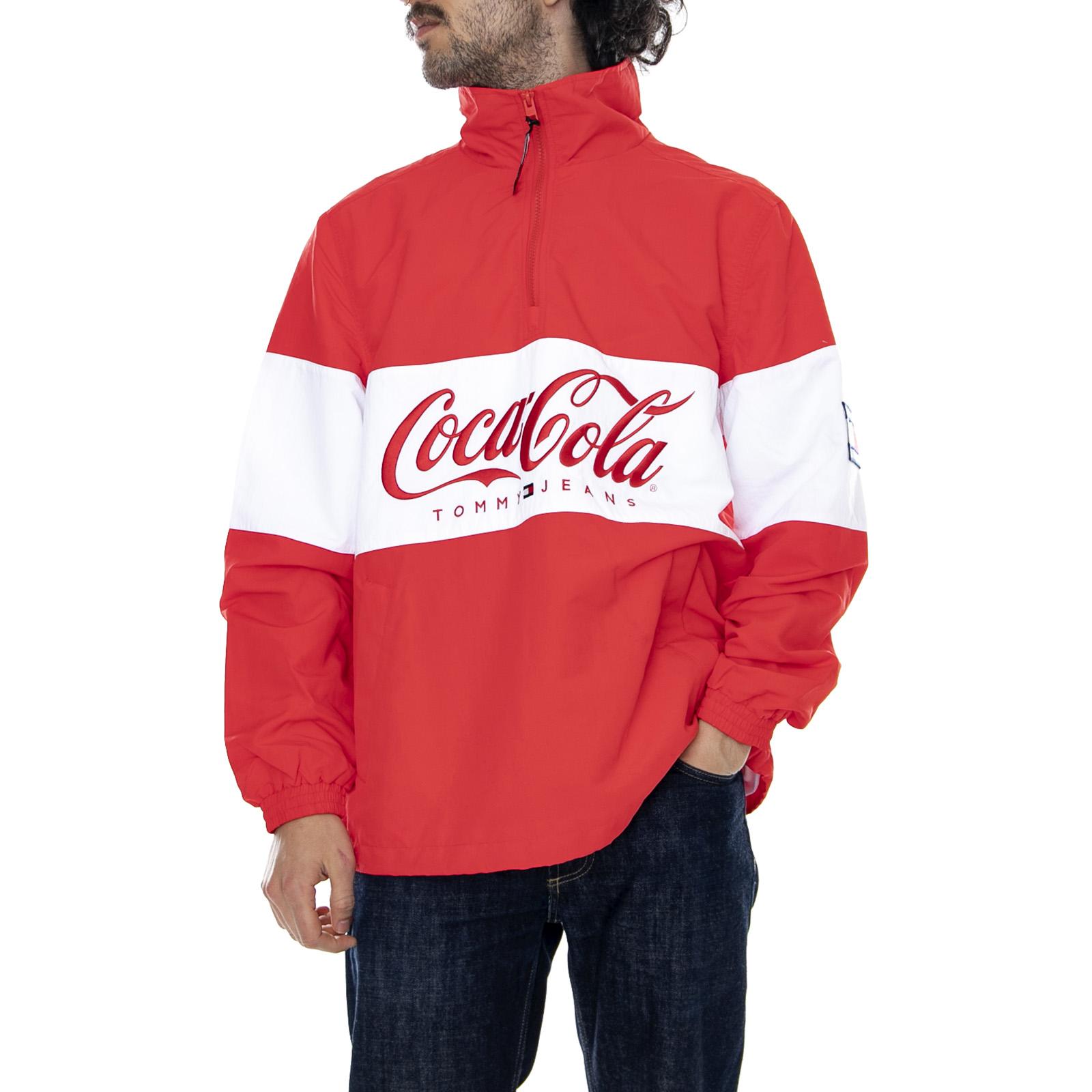 Details about Tommy Hilfiger Tjm Tommy x Coca Cola Pullover Jacket RedWhite Jacket Light