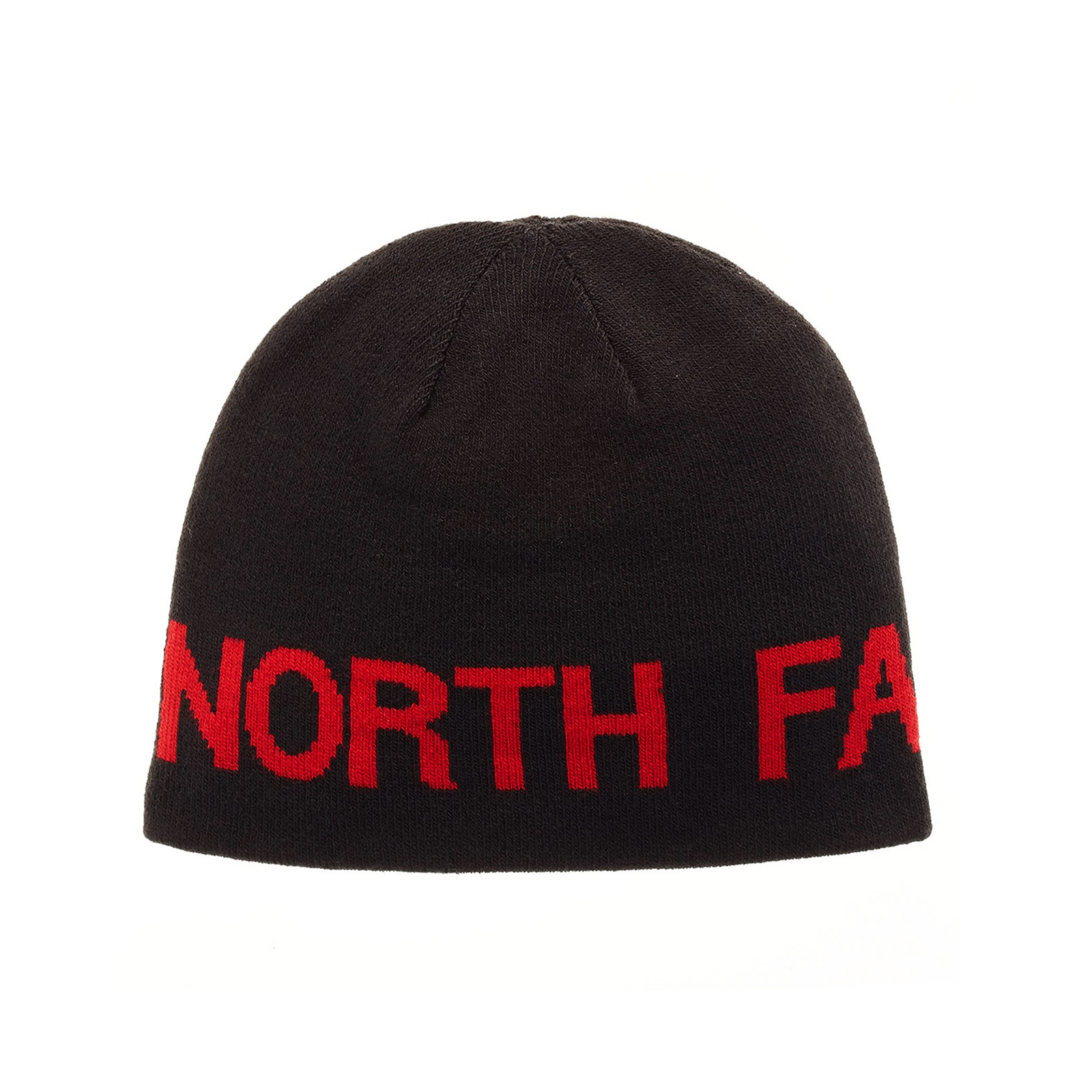 9bee918c The North Face Hat Reversible Banner Beanie TNF Black Red OS ...