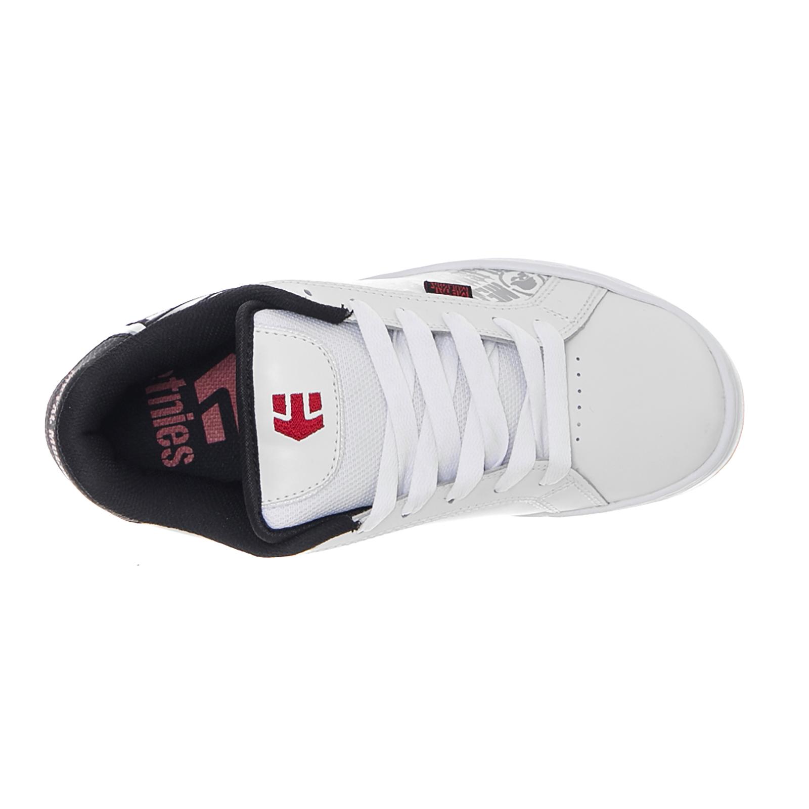 Etnies-Baskets-Metal-Mulisha-Fader-Blanc-noir-rouge-blanc