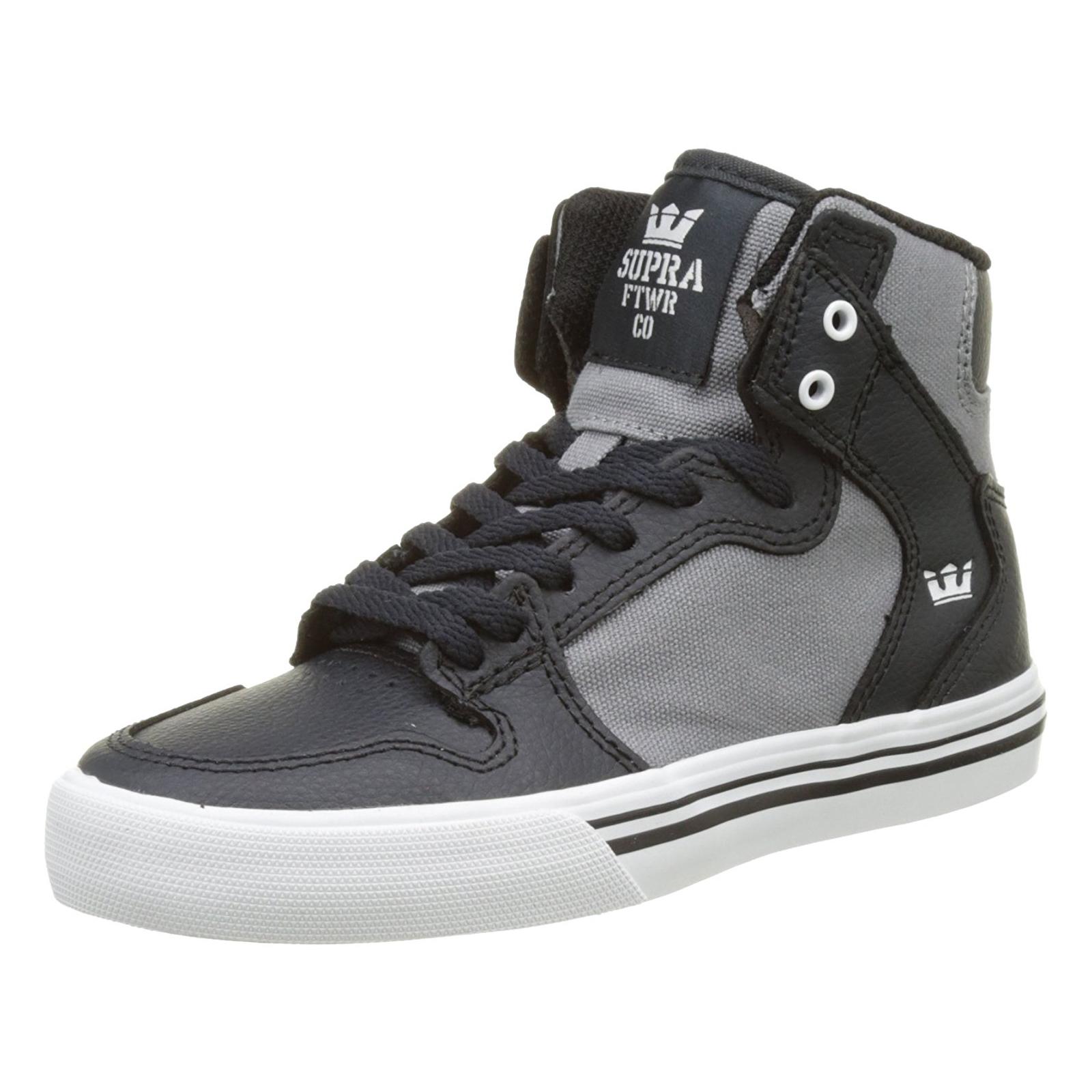 26ebc299a3bb Supra Sneakers Kids Vaider Dk. Grey Grey-White Cornerstone grey