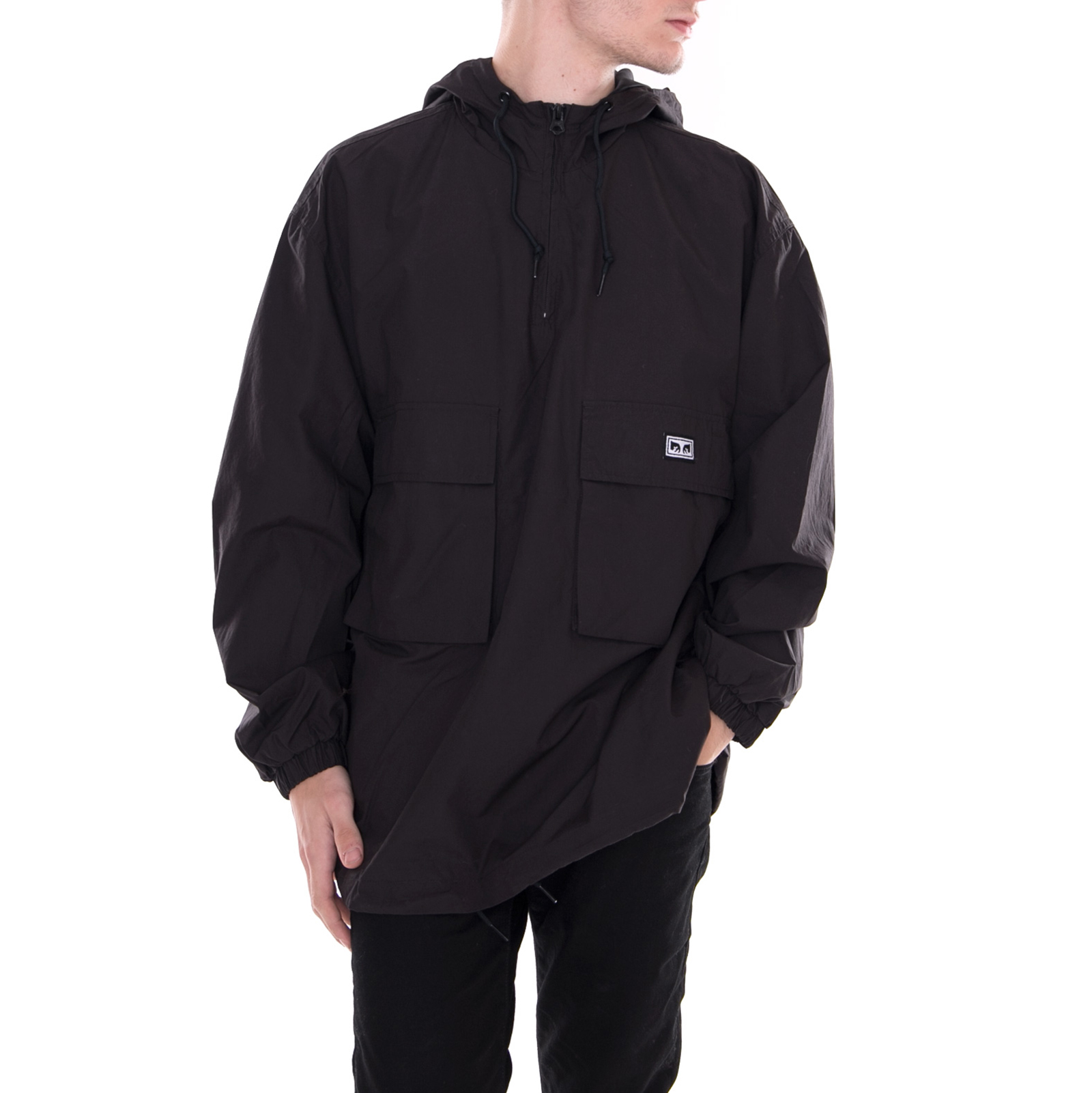 Nero Obey Giacche Black Lock Down Anorak 77vxpUB